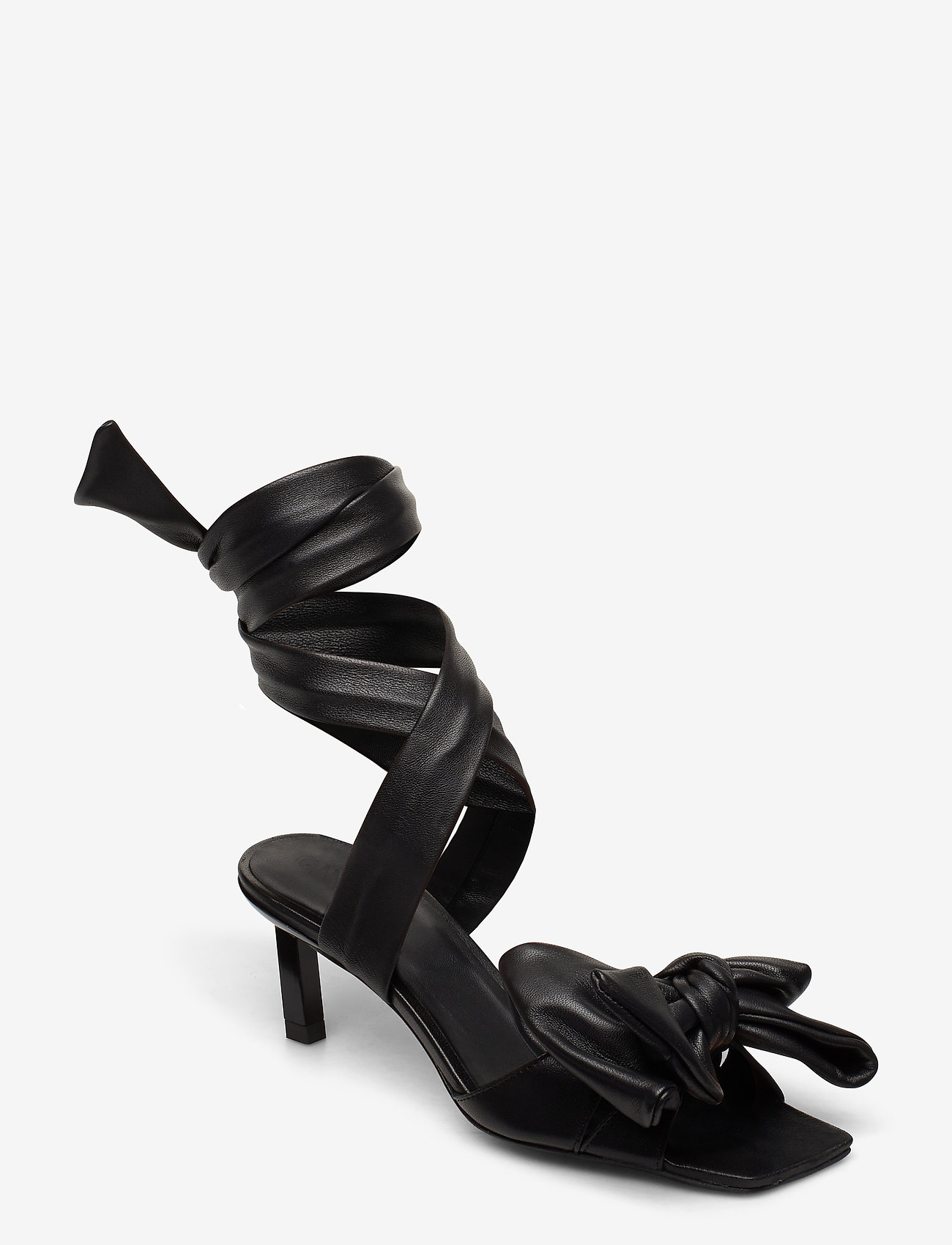 Ganni - Sandal Napa - højhælede sandaler - black - 0