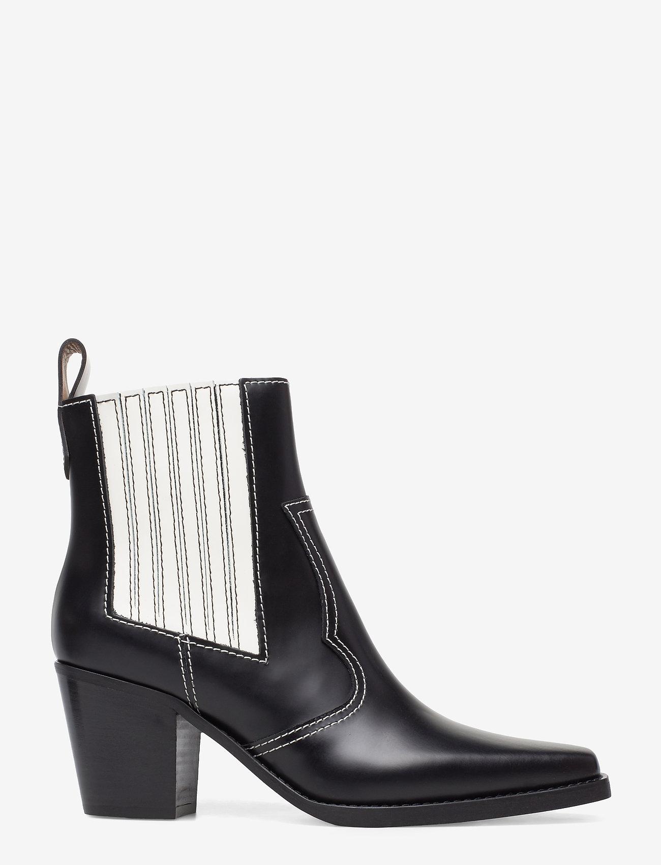 Ganni - Western Boot Polido - wysoki obcas - black - 1