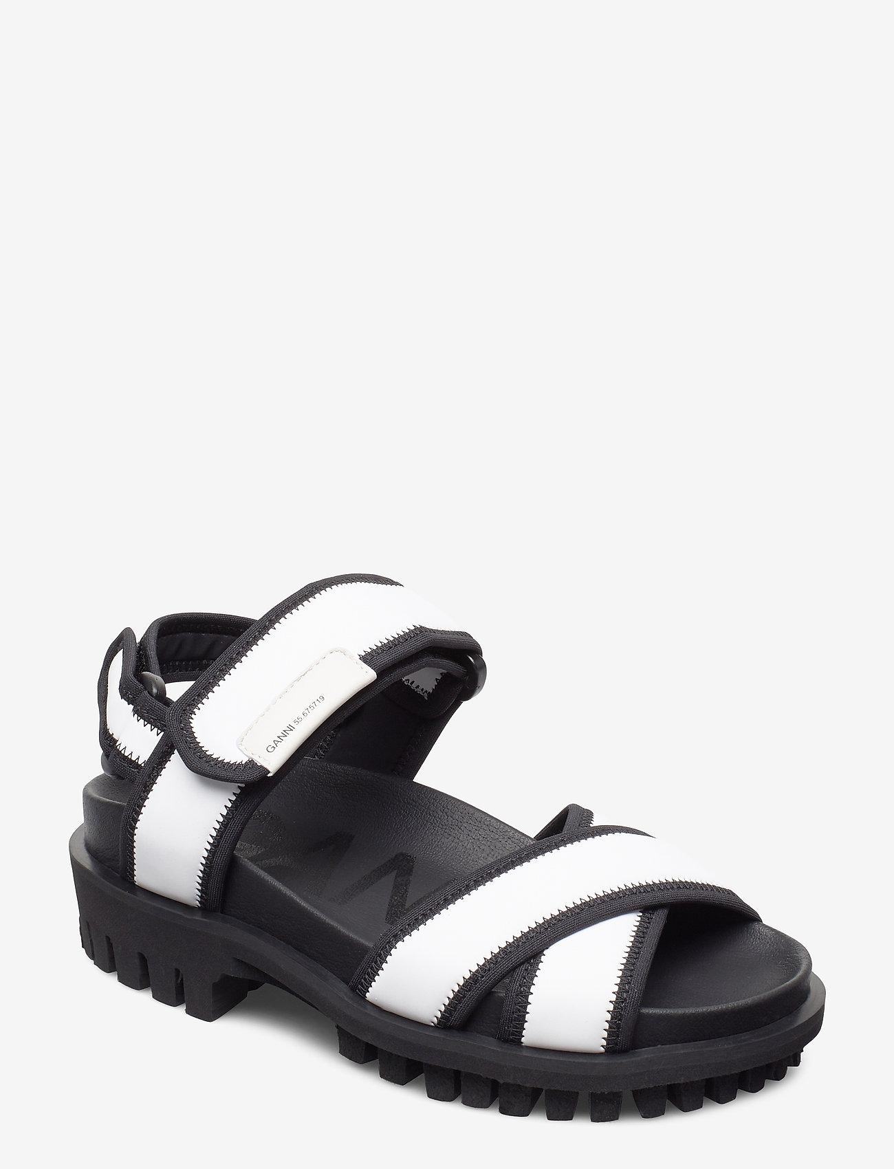 Ganni - Hiking Sandal Scuba - matalat sandaalit - egret - 0