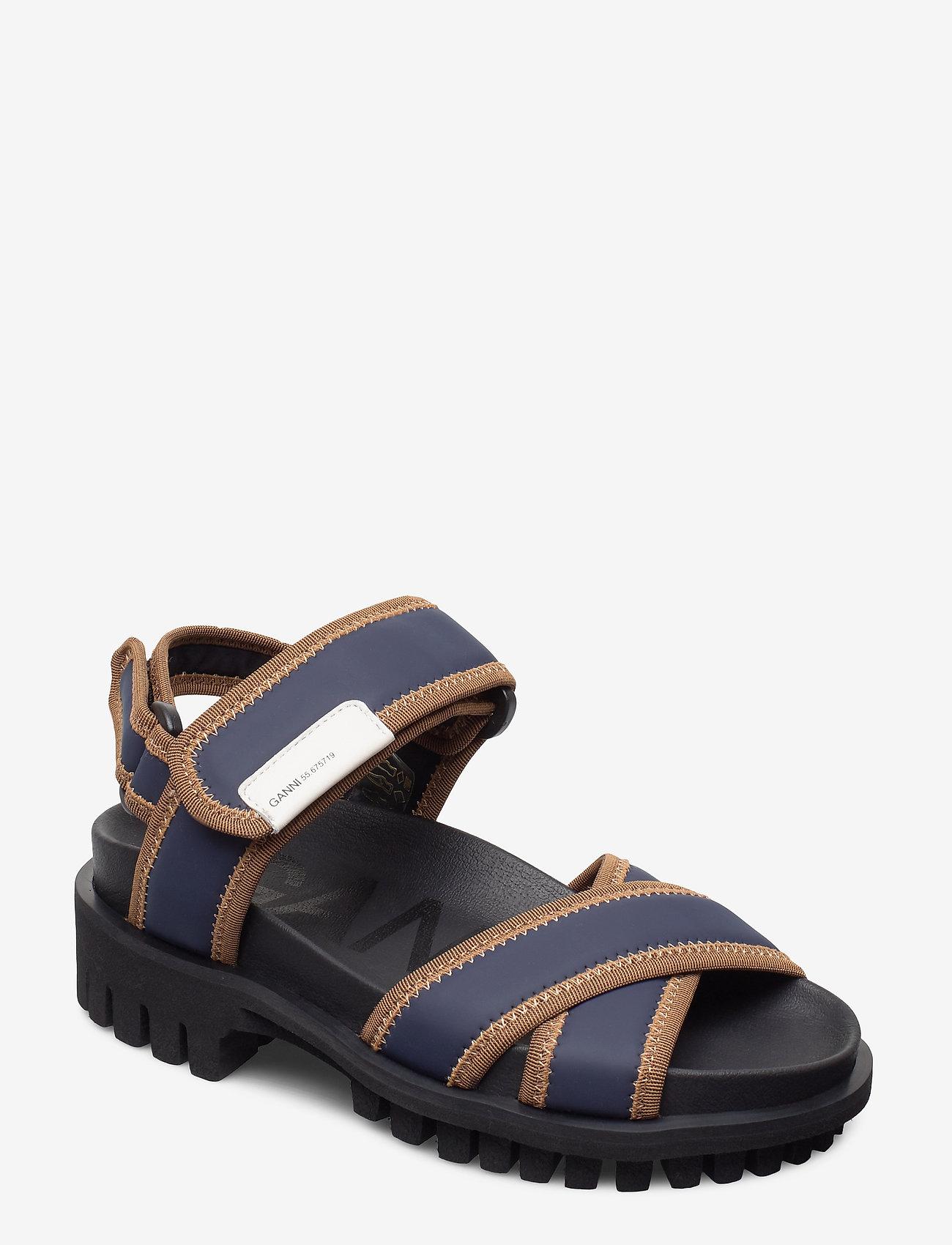 Ganni - Hiking Sandal Scuba - płaskie sandały - sky captain - 0