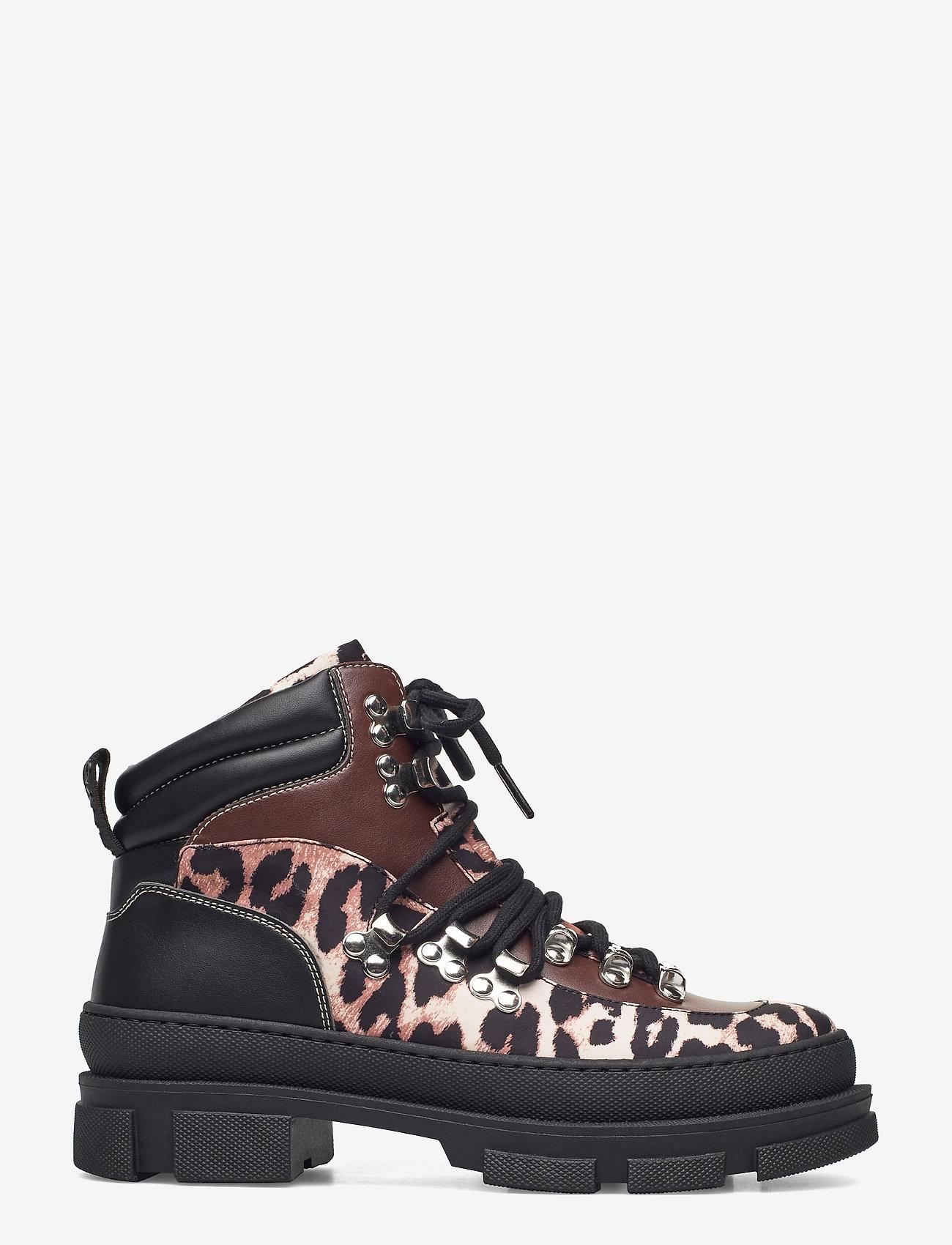 Ganni - Sporty Boot - platte enkellaarsjes - leopard - 1