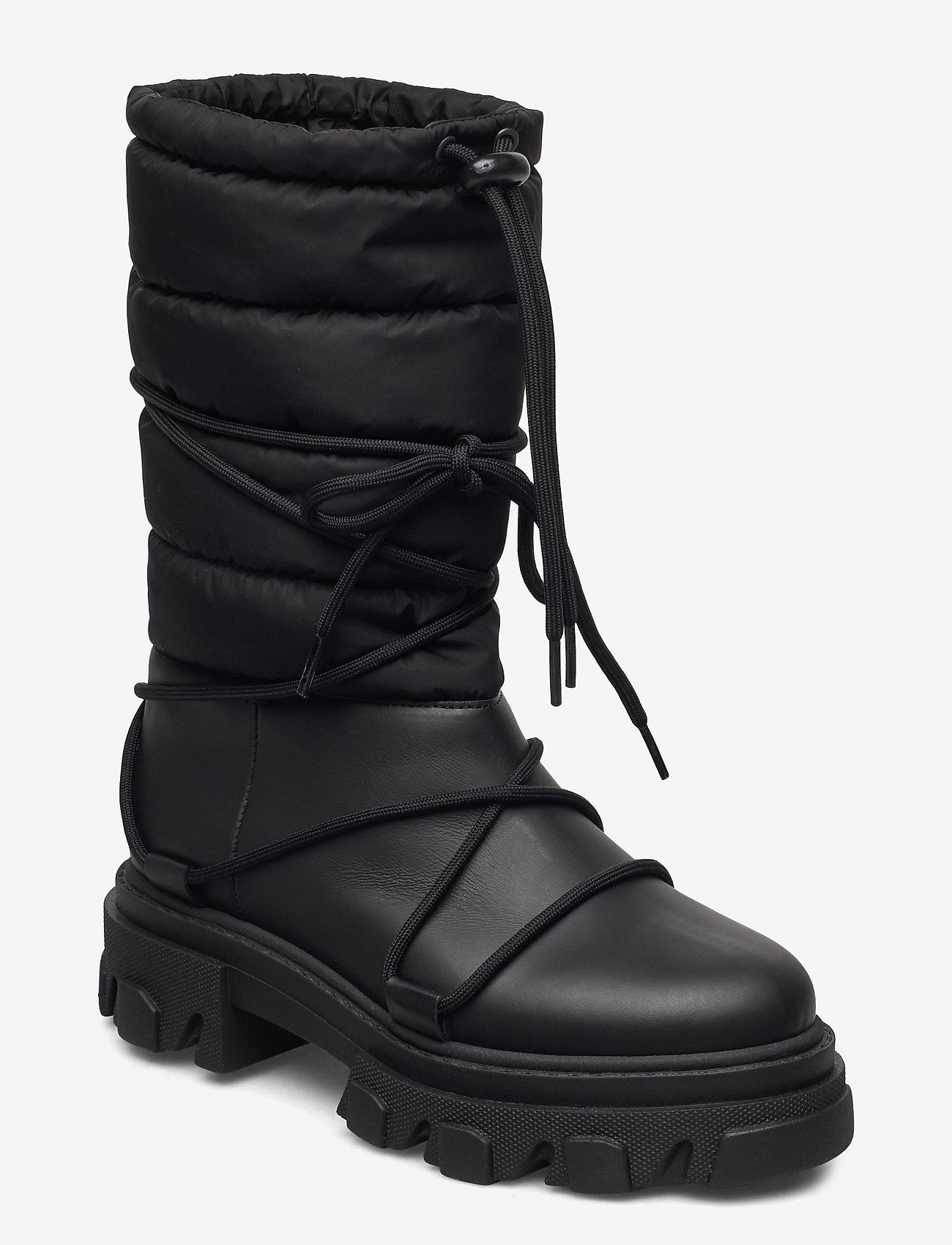 Ganni - Working Boot - flade ankelstøvler - black - 1