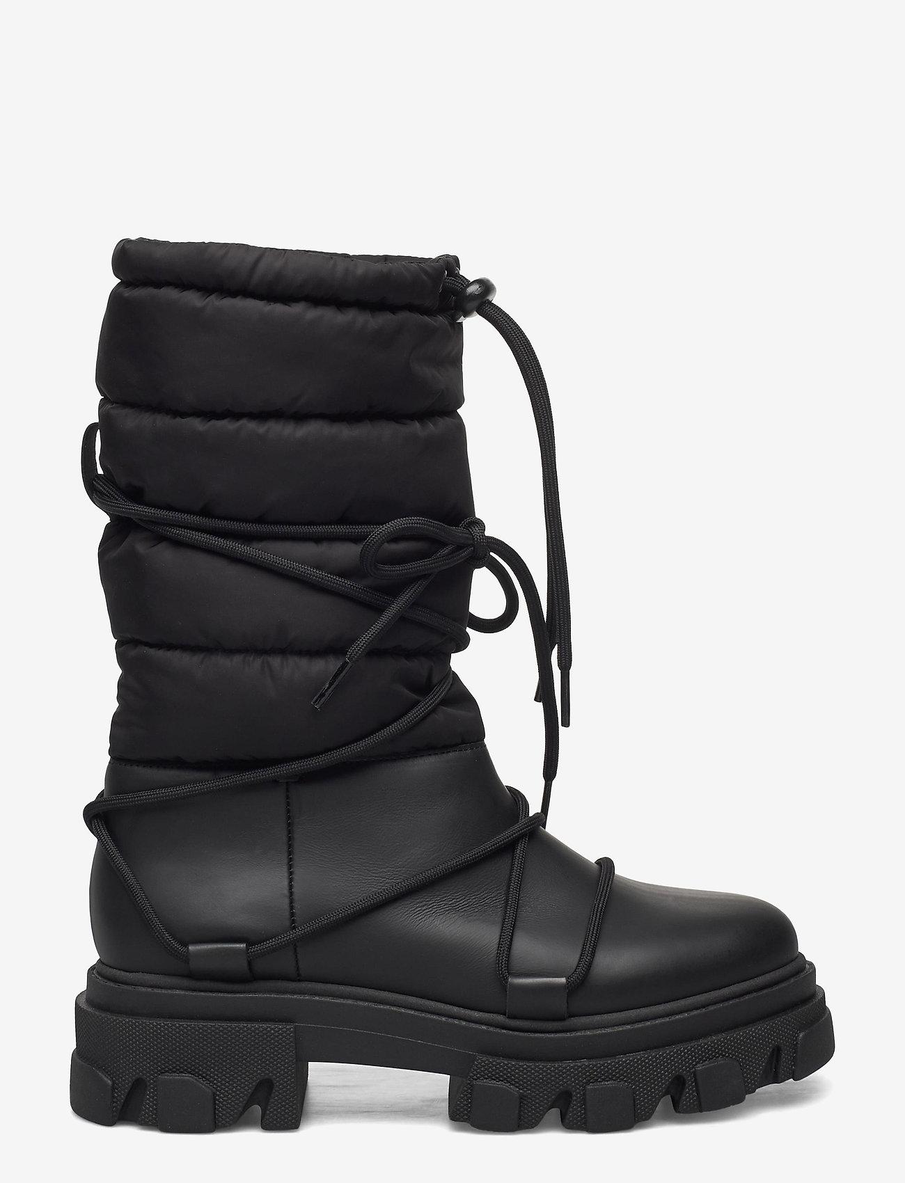 Ganni - Working Boot - flade ankelstøvler - black - 0