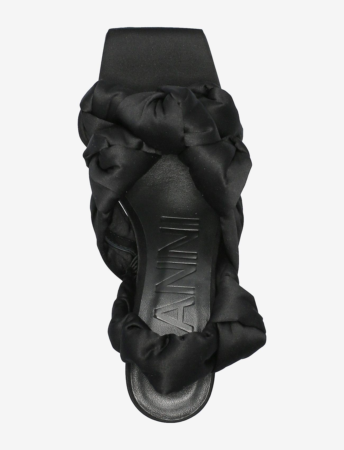 Ganni - Recycled Satin - højhælede sandaler - black - 3