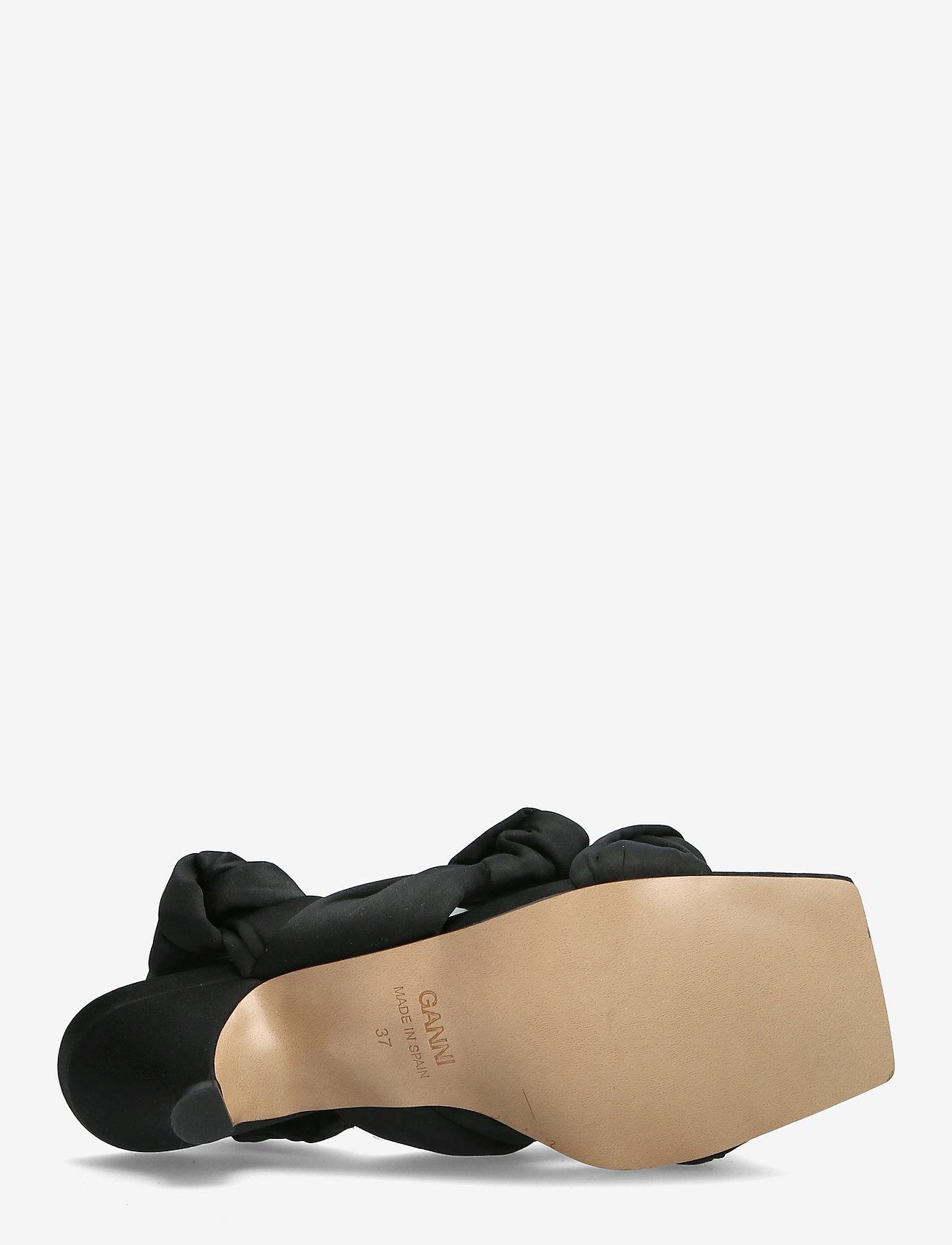 Ganni - Recycled Satin - højhælede sandaler - black - 4
