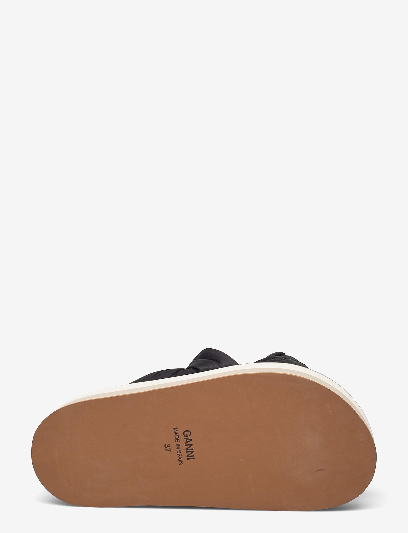 Ganni - Recycled Satin - flade sandaler - black - 4