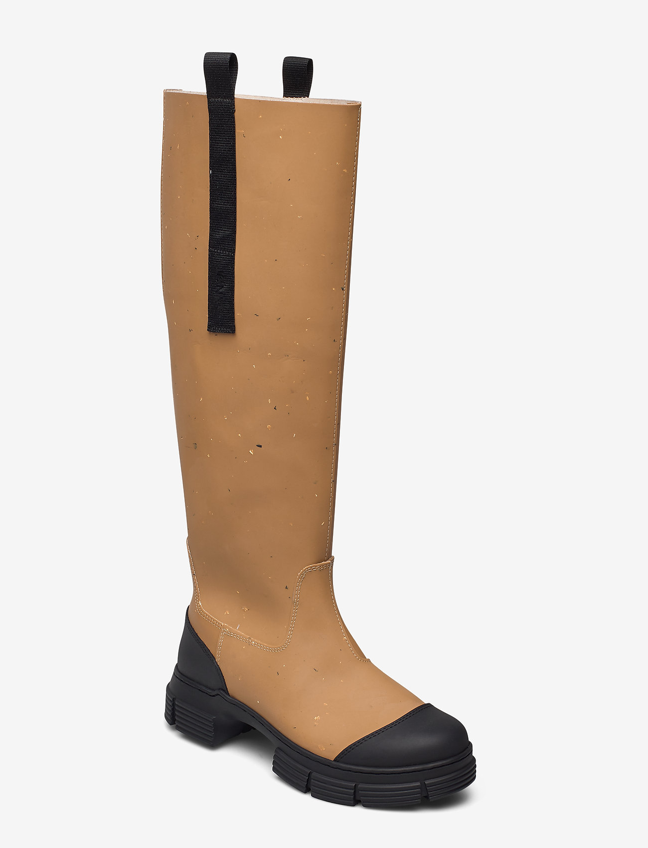 Ganni - Recycled Rubber - long boots - chipmunk - 0