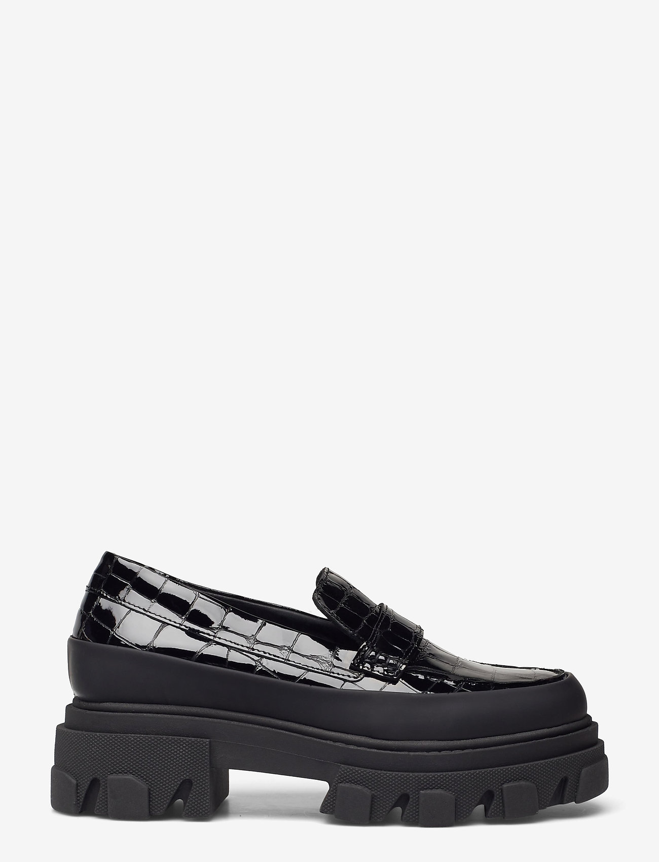 Ganni - Belly Croc - loafers - black - 1