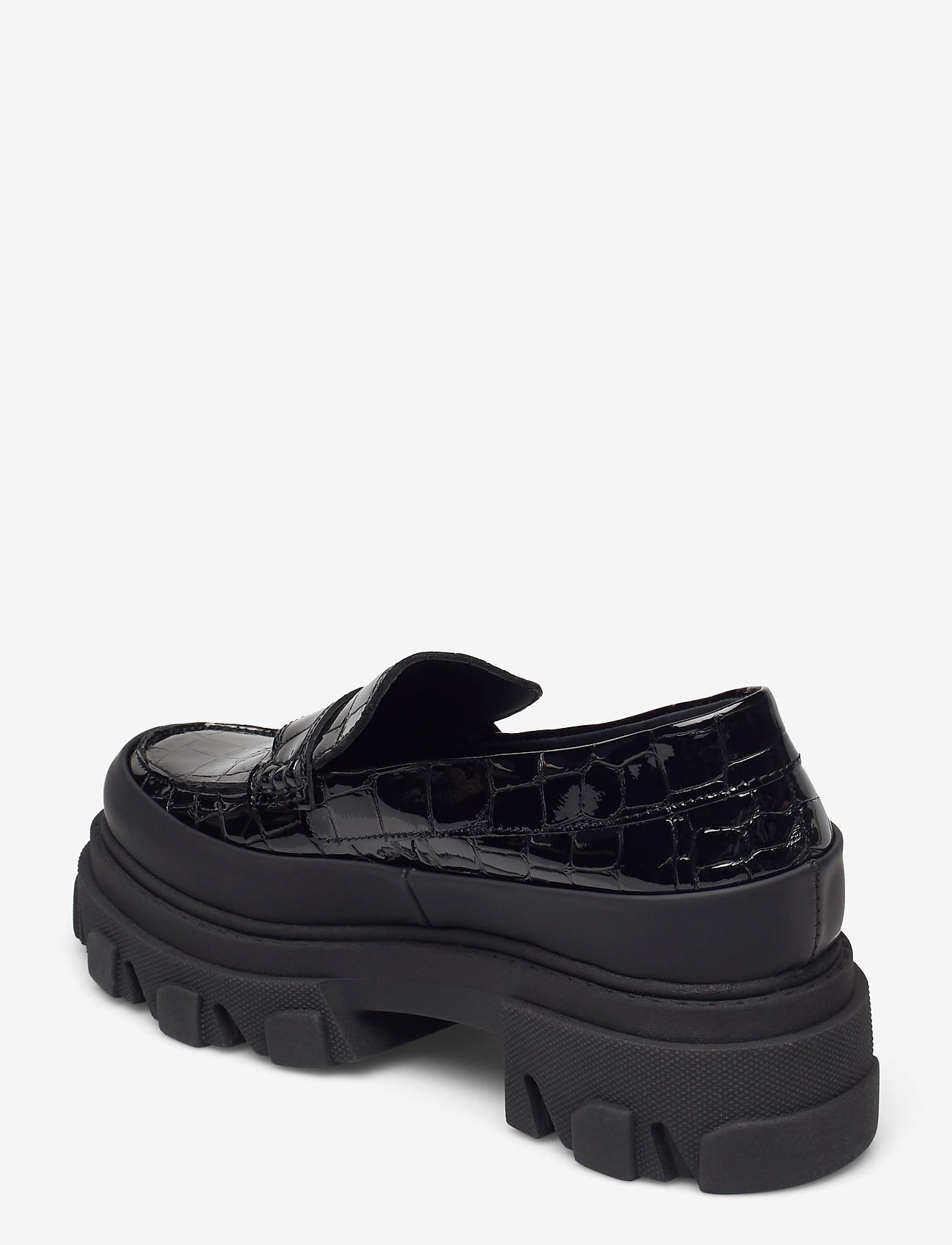 Ganni - Belly Croc - loafers - black - 2
