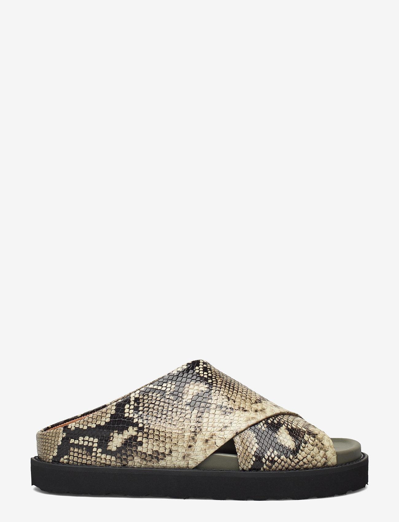 Ganni - Embossed Snake - flade sandaler - kalamata - 1