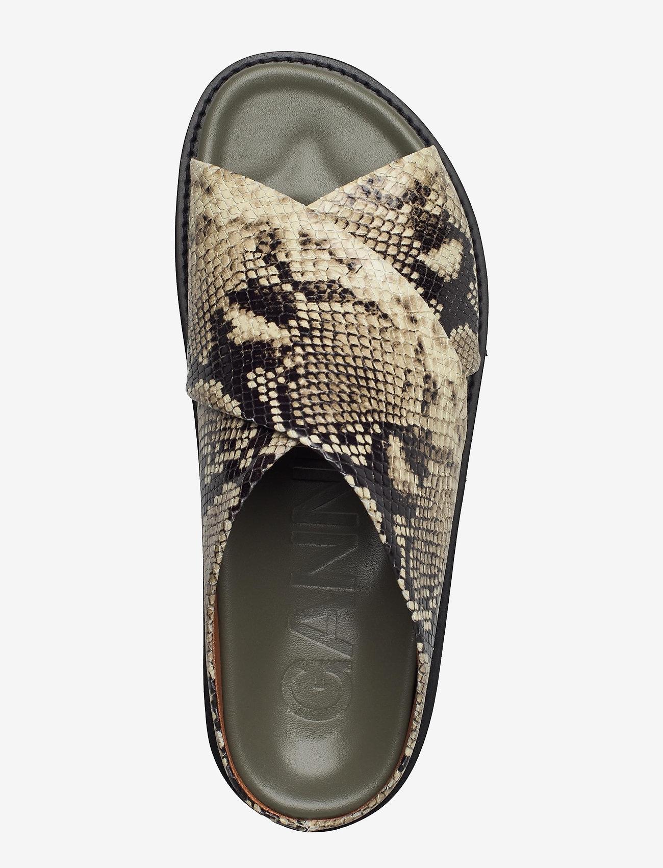 Ganni - Embossed Snake - flade sandaler - kalamata - 3