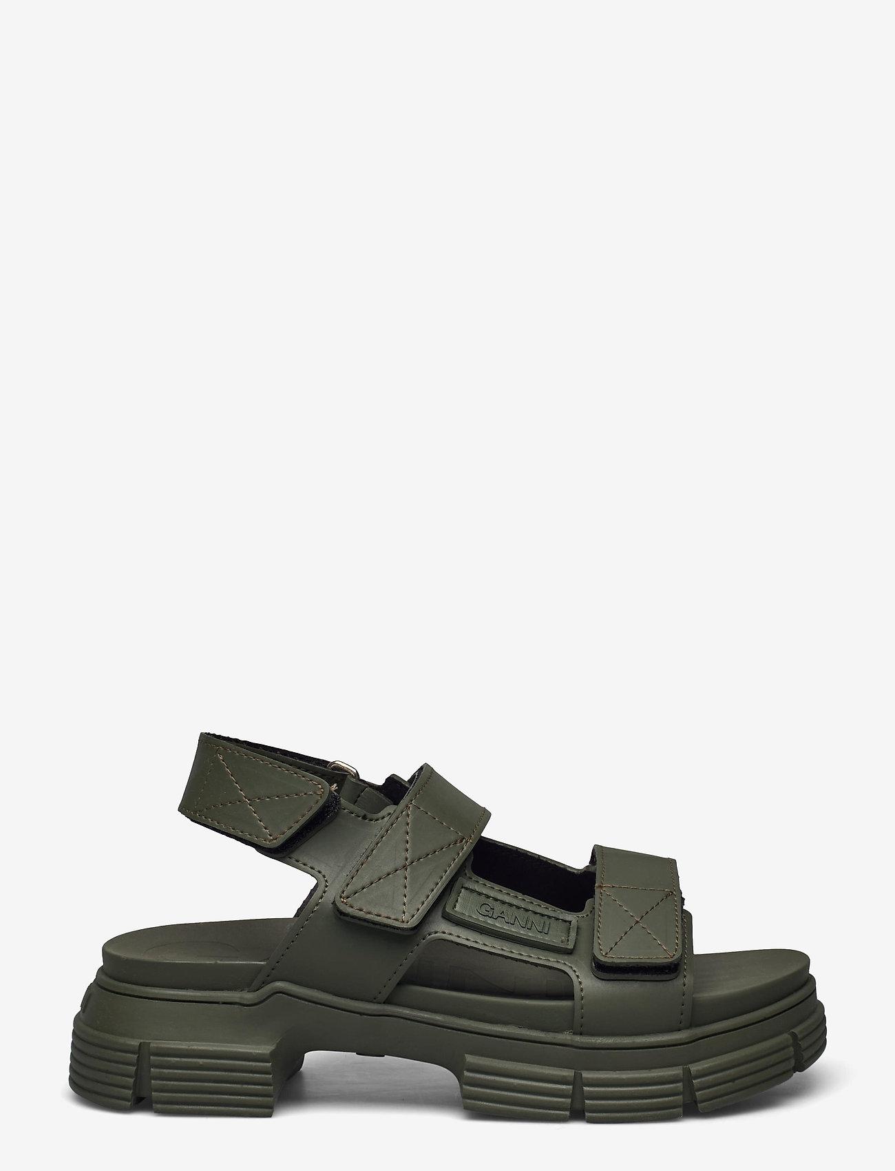 Ganni - Recycled Rubber - płaskie sandały - kalamata - 0