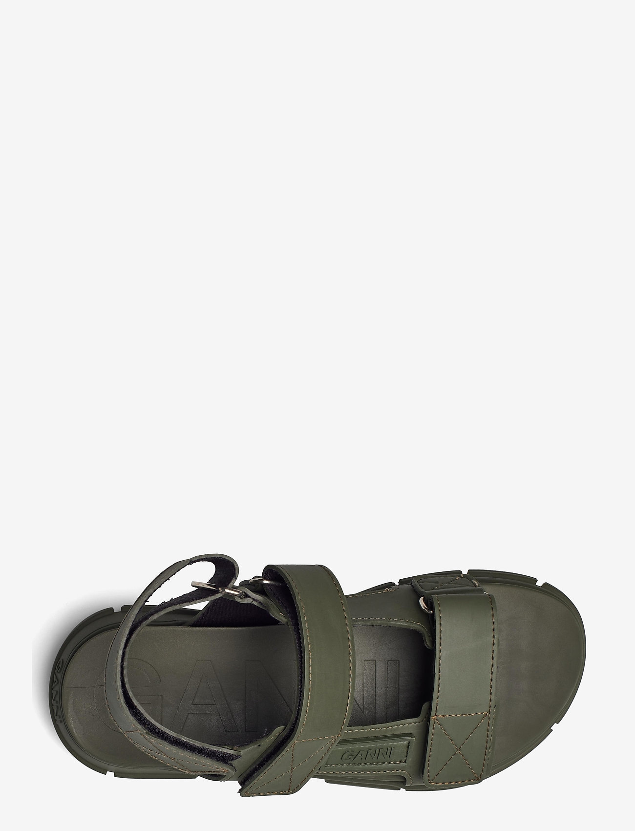 Ganni - Recycled Rubber - płaskie sandały - kalamata - 3