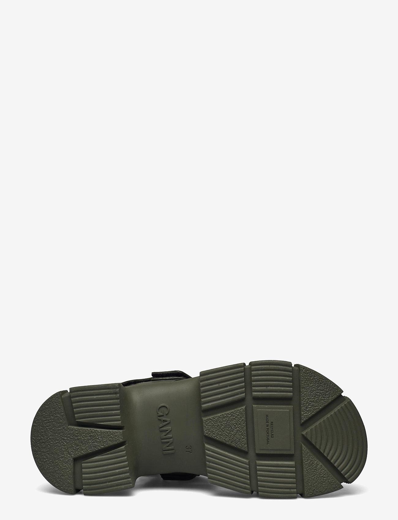 Ganni - Recycled Rubber - płaskie sandały - kalamata - 4