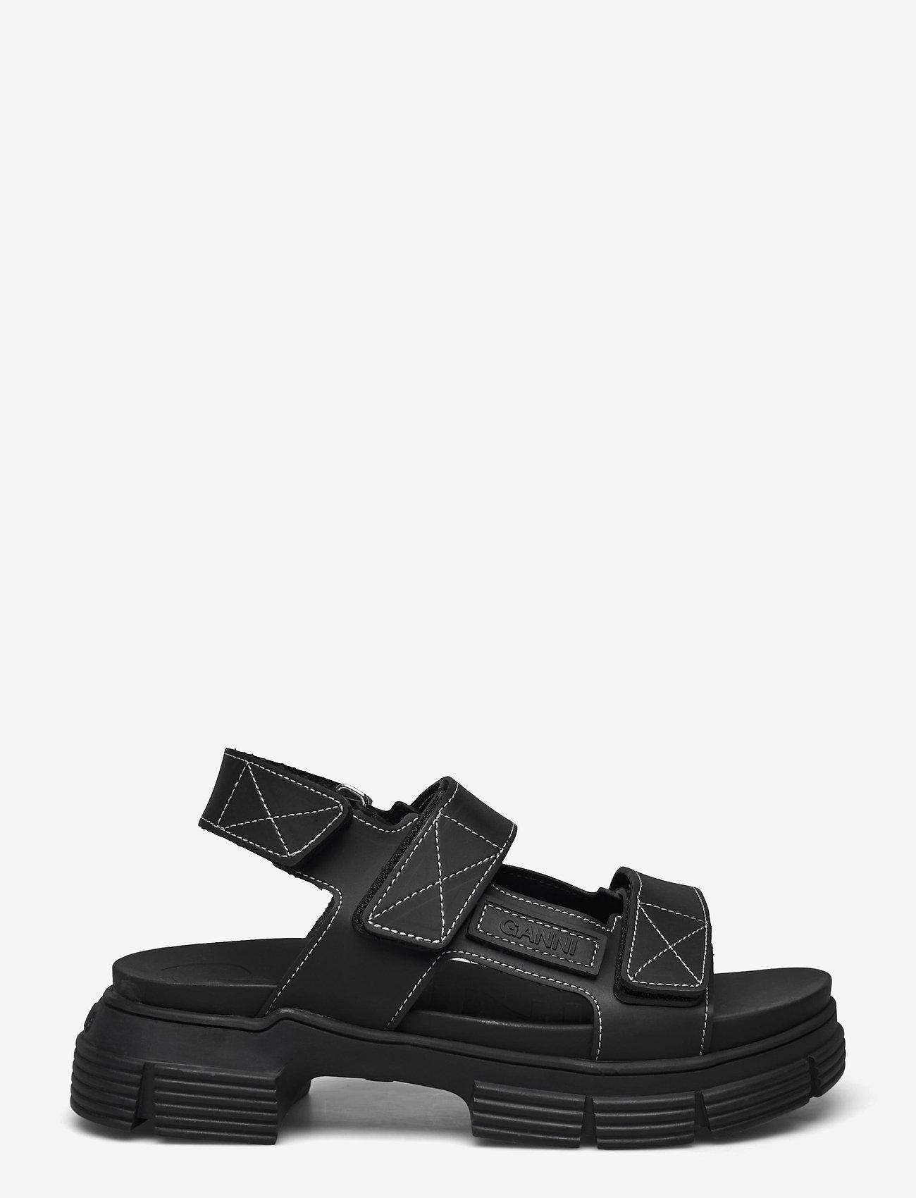 Ganni - Recycled Rubber - płaskie sandały - black - 1