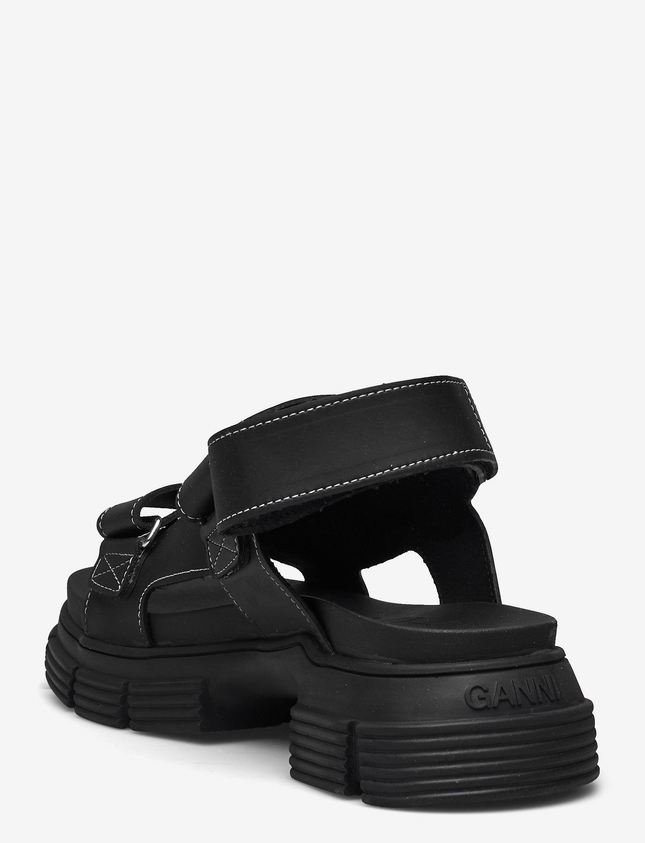 Ganni - Recycled Rubber - płaskie sandały - black - 2