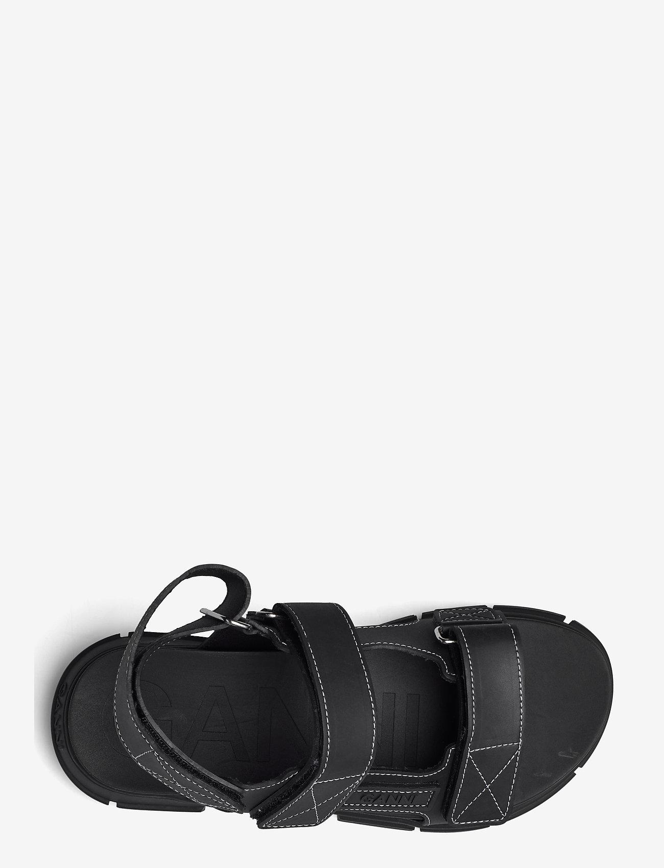 Ganni - Recycled Rubber - płaskie sandały - black - 3