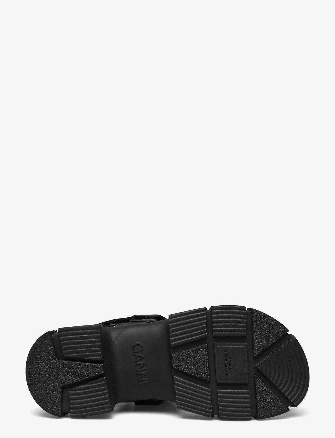 Ganni - Recycled Rubber - płaskie sandały - black - 4