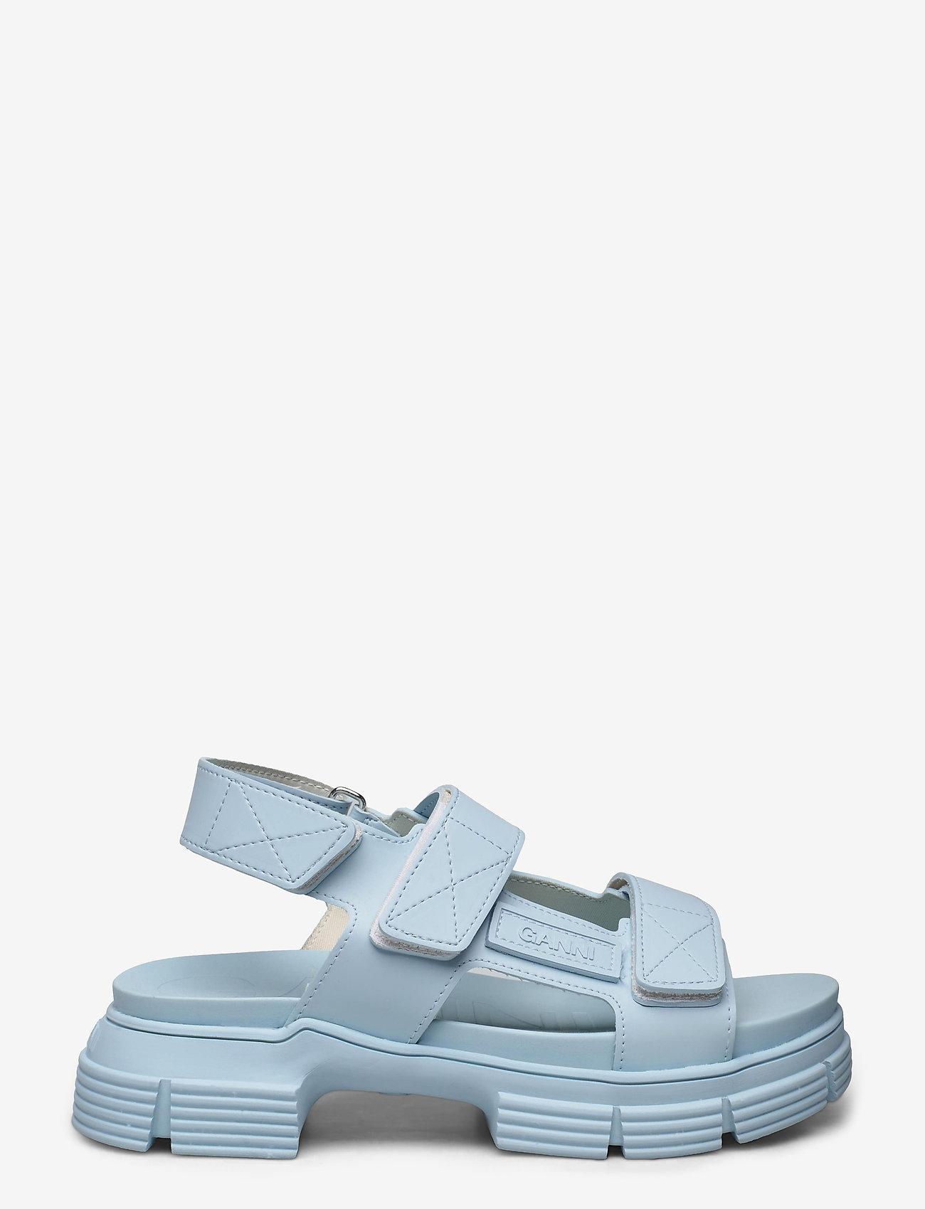 Ganni - Recycled Rubber - płaskie sandały - corydalis blue - 1
