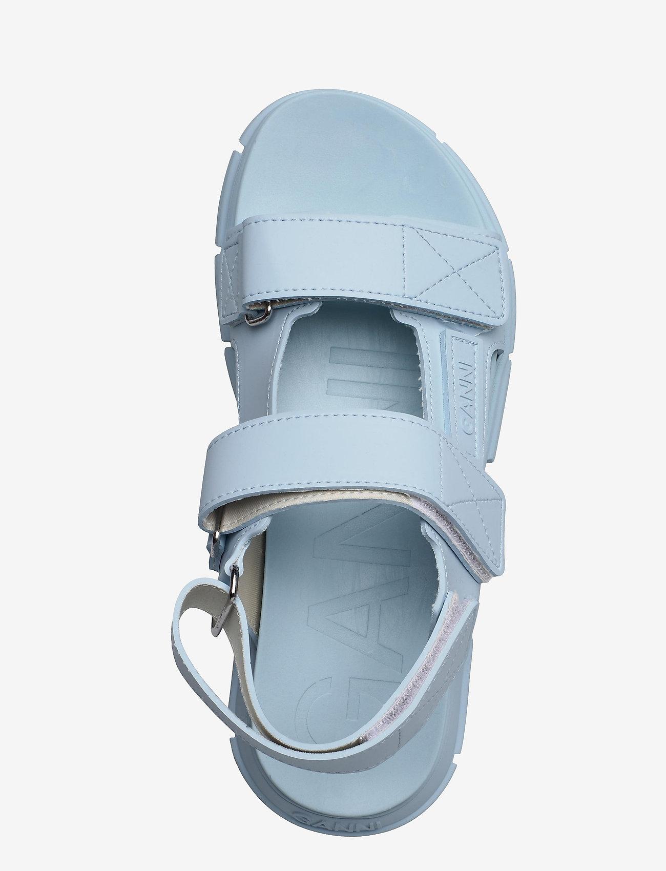 Ganni - Recycled Rubber - płaskie sandały - corydalis blue - 3