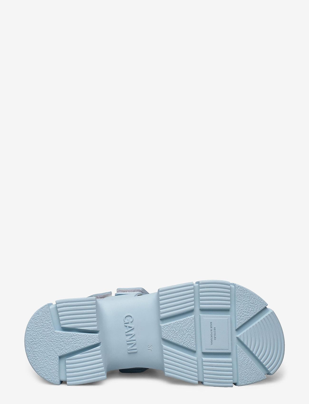 Ganni - Recycled Rubber - płaskie sandały - corydalis blue - 4