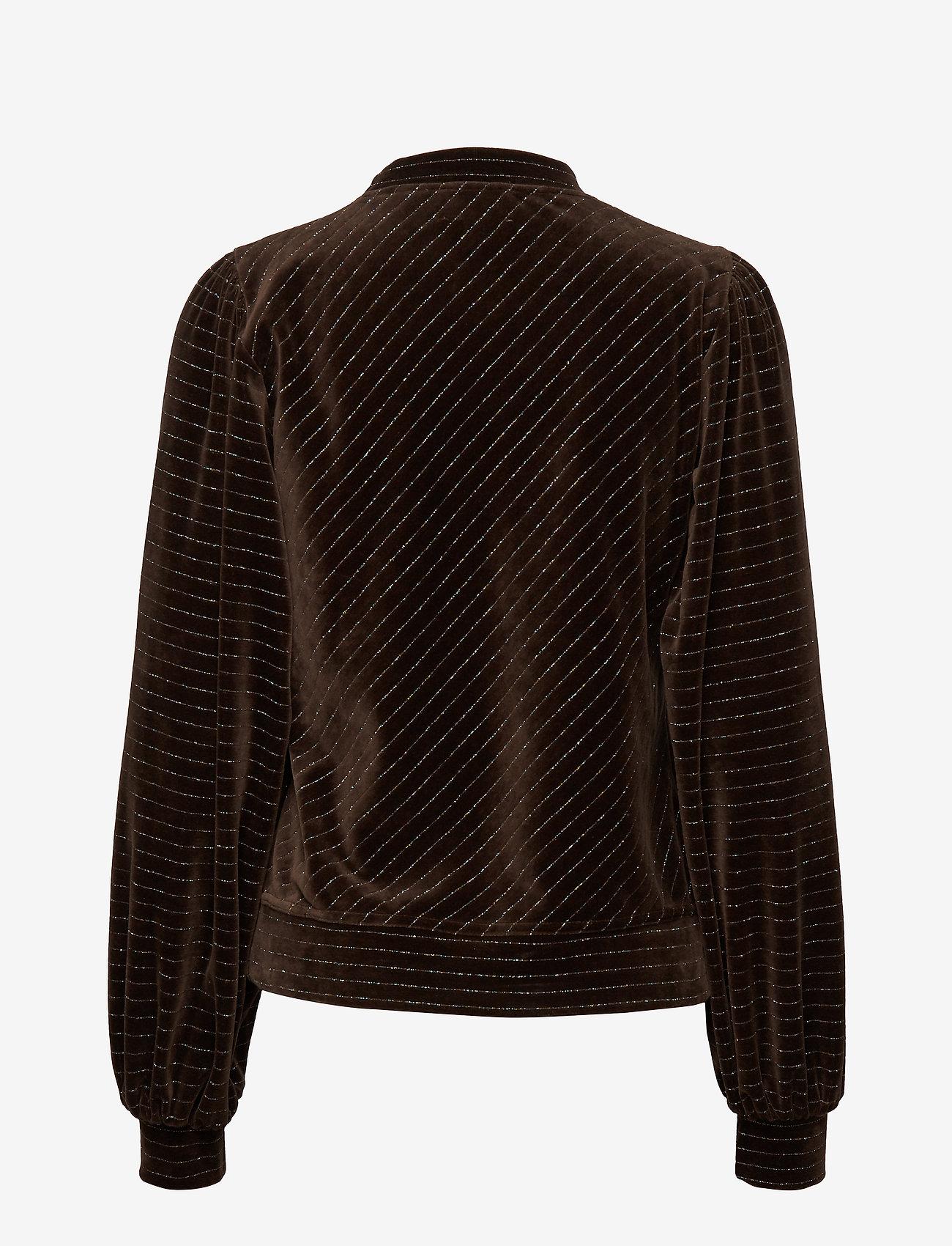Ganni - Velvet Lurex - sweatshirts - mole - 1