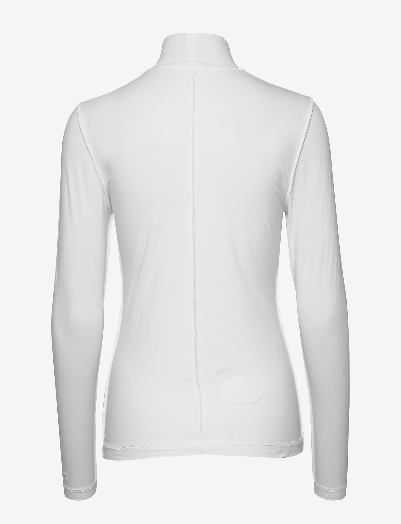 Ganni - Light Stretch Jersey - langærmede toppe - bright white - 1