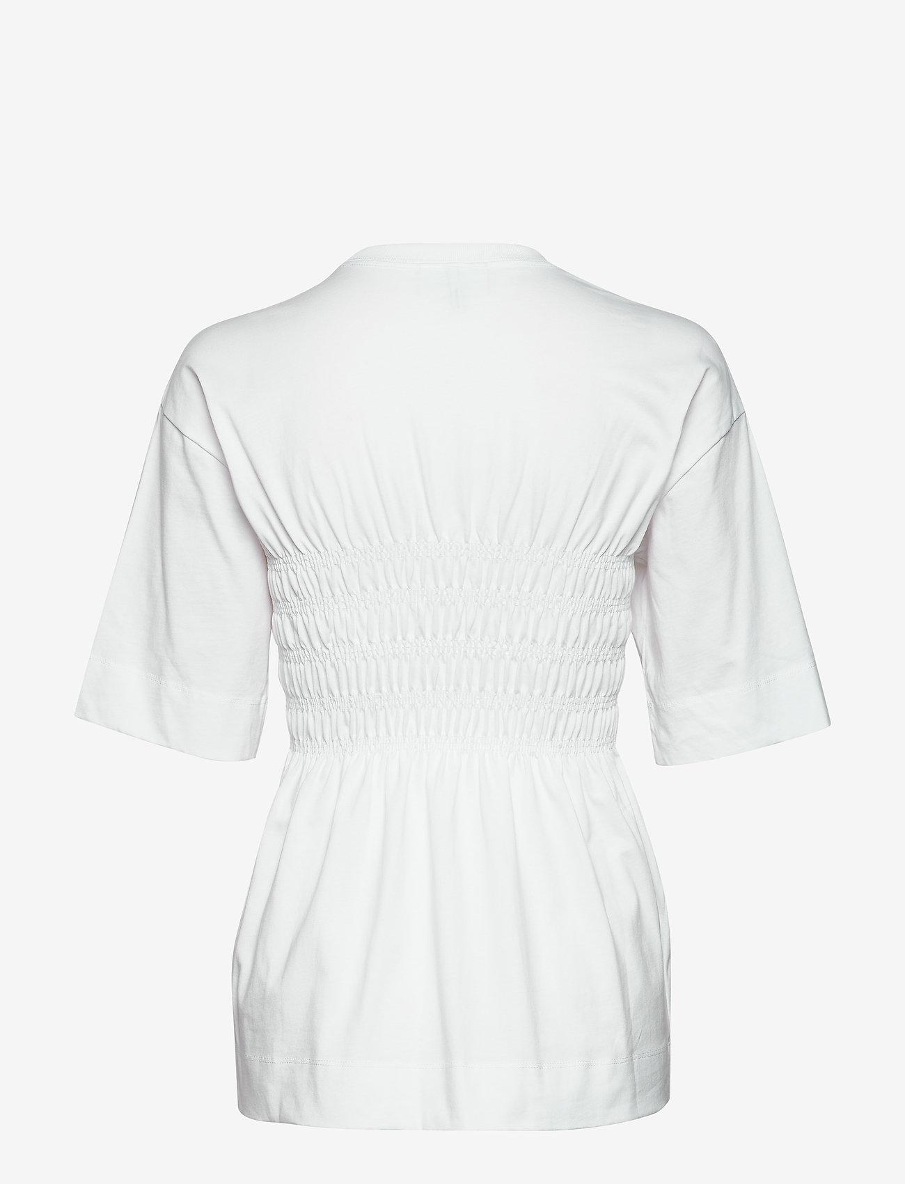 Ganni Basic Cotton Jersey - T-shirts & Tops BRIGHT WHITE