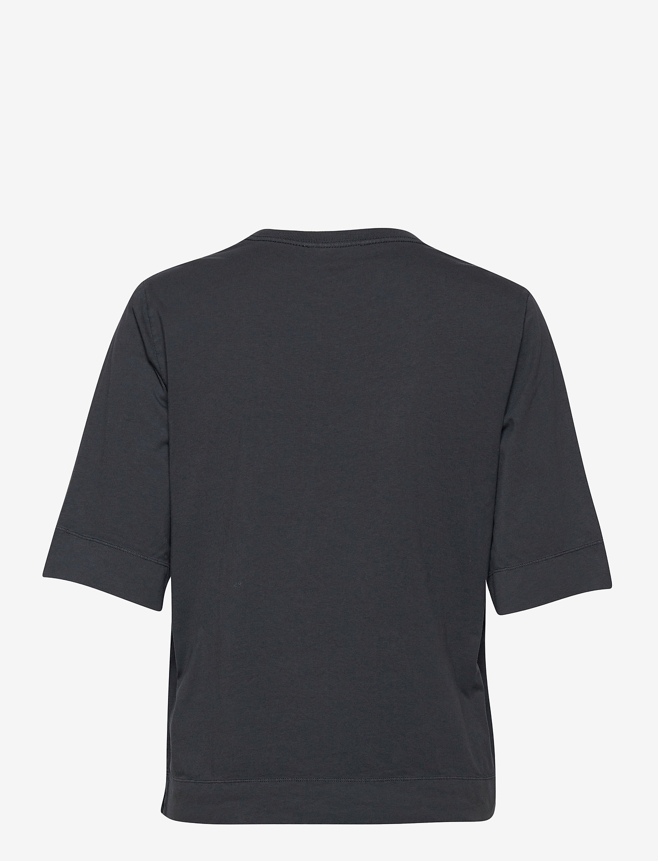 Ganni - Basic Cotton Jersey - t-shirts - phantom - 1