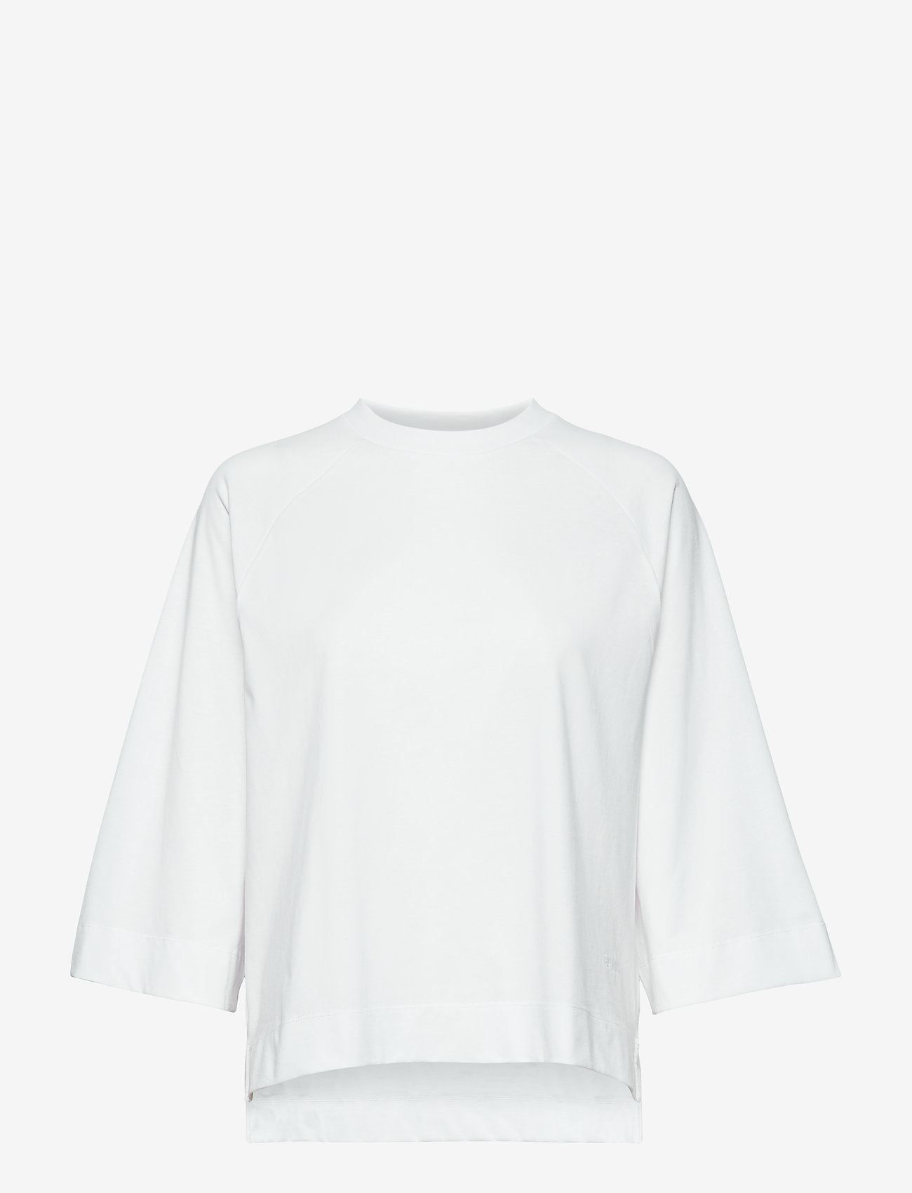 Ganni - Basic Cotton Jersey - langærmede toppe - bright white - 0