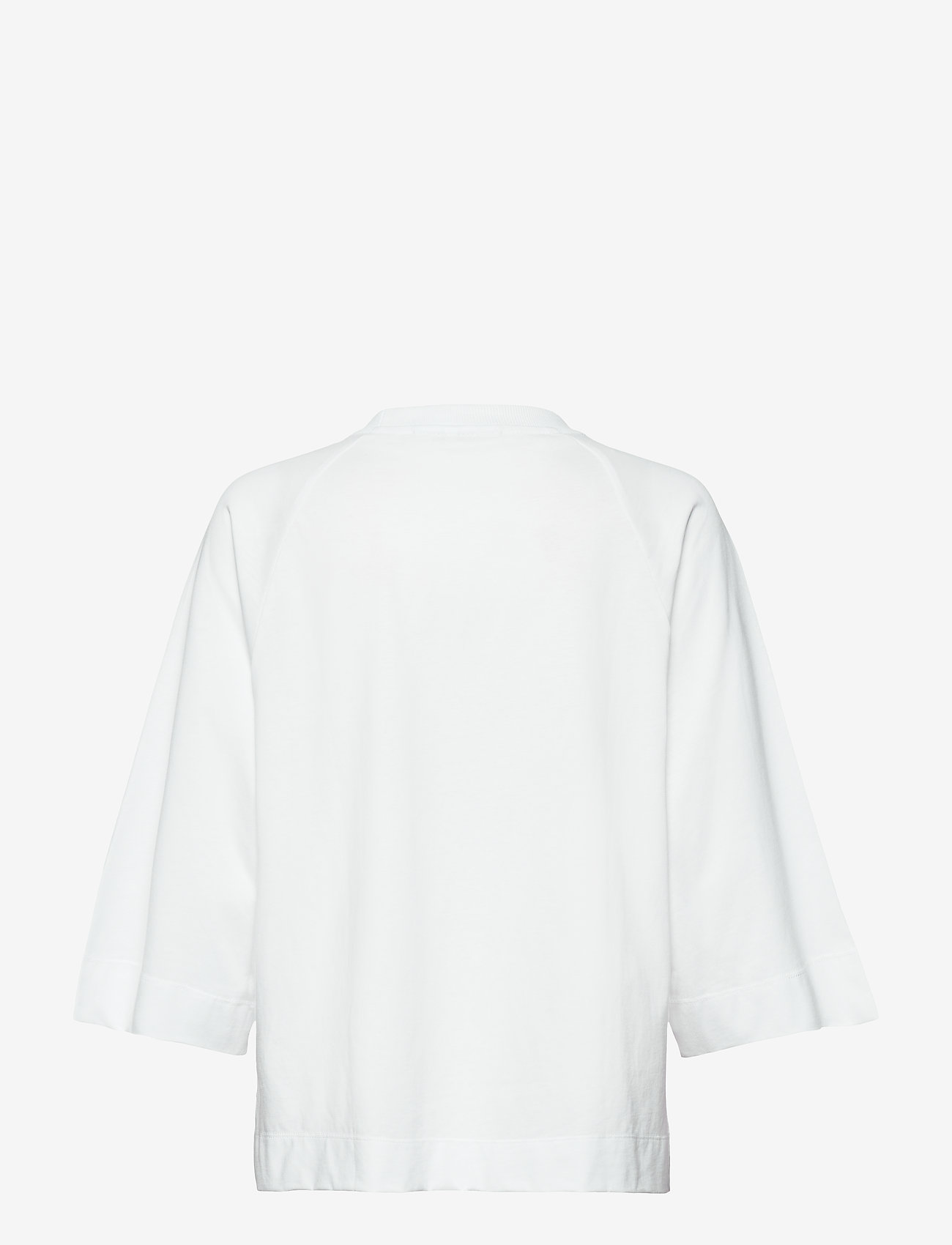 Ganni - Basic Cotton Jersey - langærmede toppe - bright white - 1