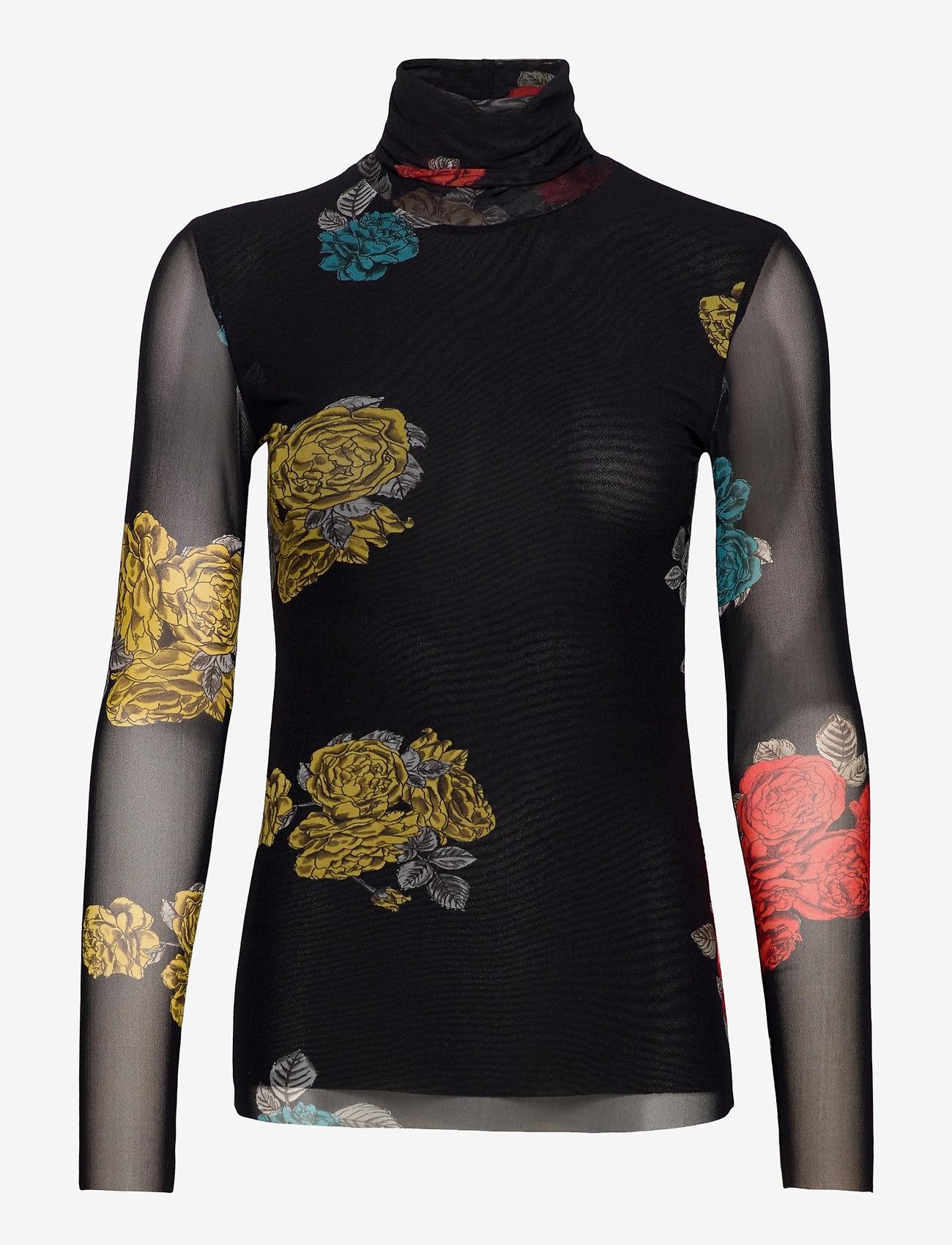Ganni - Rollneck - long sleeved blouses - black - 0