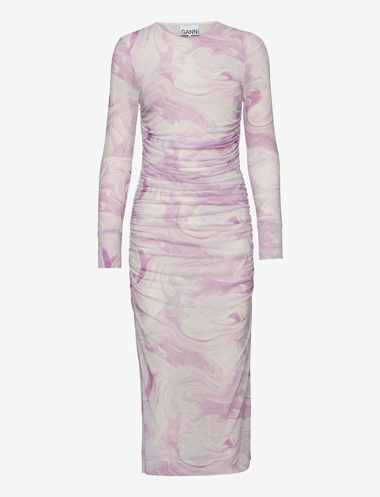 Ganni - Dress - stramme kjoler - orchid bloom - 0