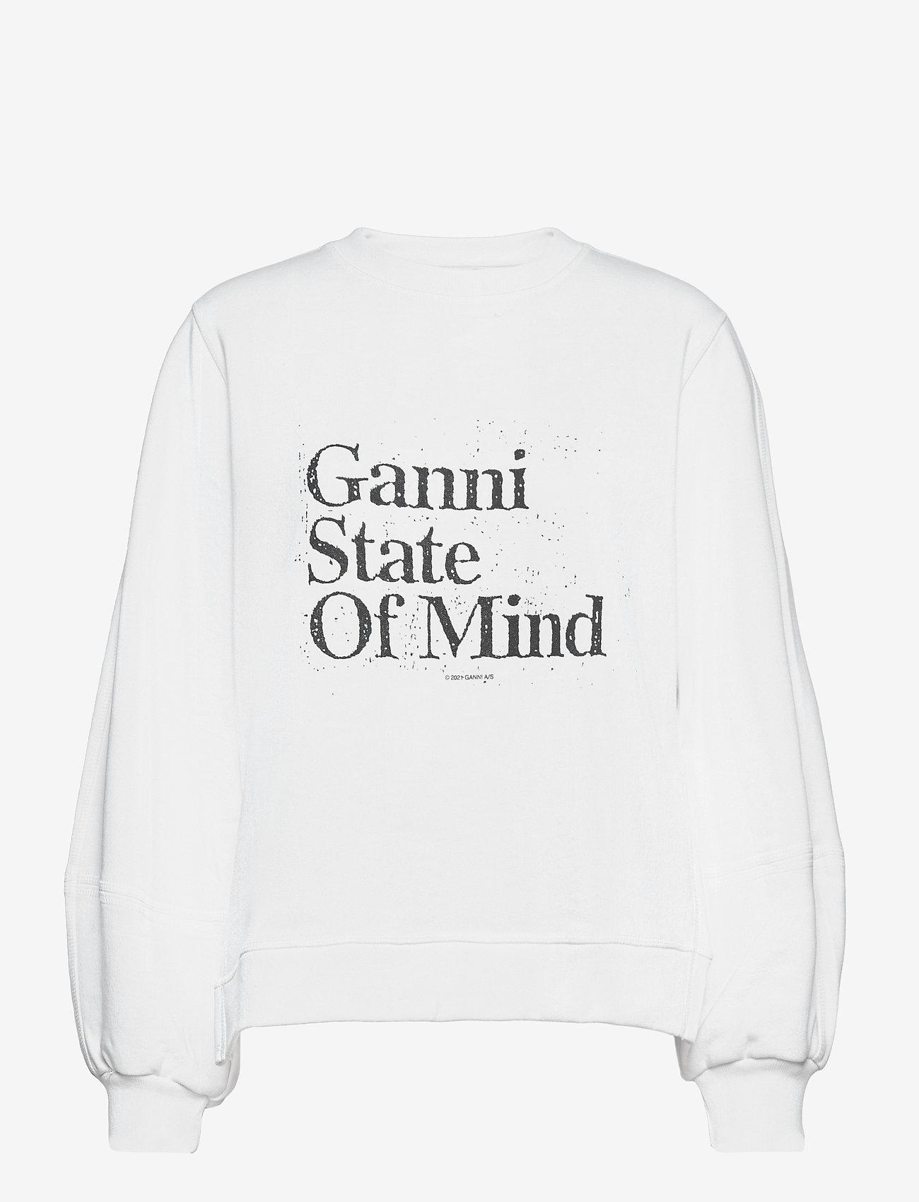 Ganni - Isoli - sweatshirts & hoodies - bright white - 0