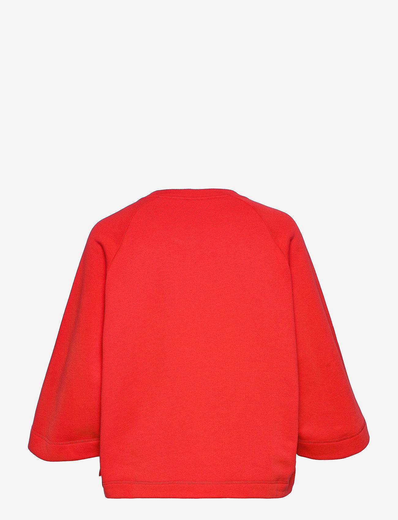 Ganni - Isoli - sweatshirts & hættetrøjer - flame scarlet - 1