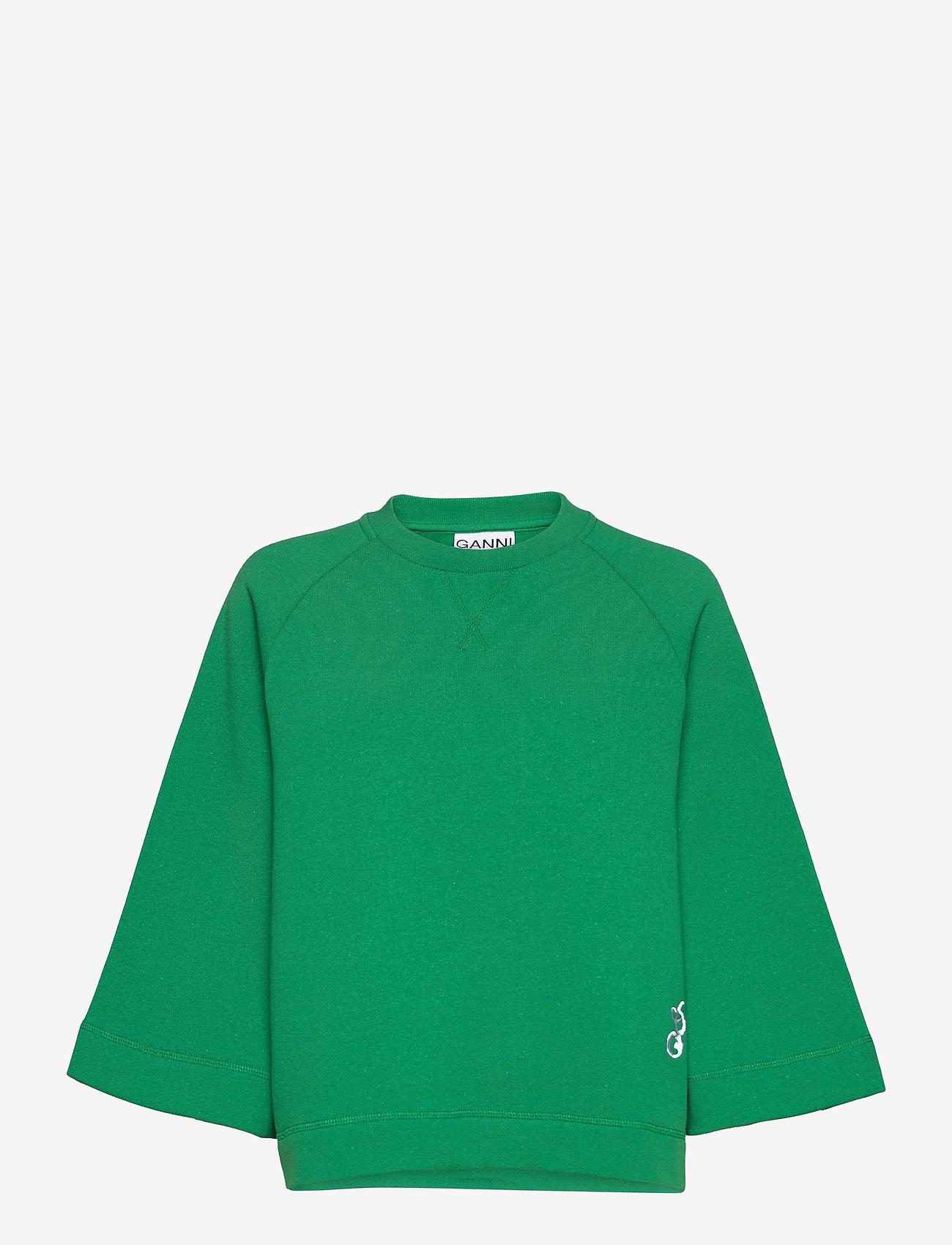 Ganni - Isoli - sweatshirts & hættetrøjer - kelly green - 0