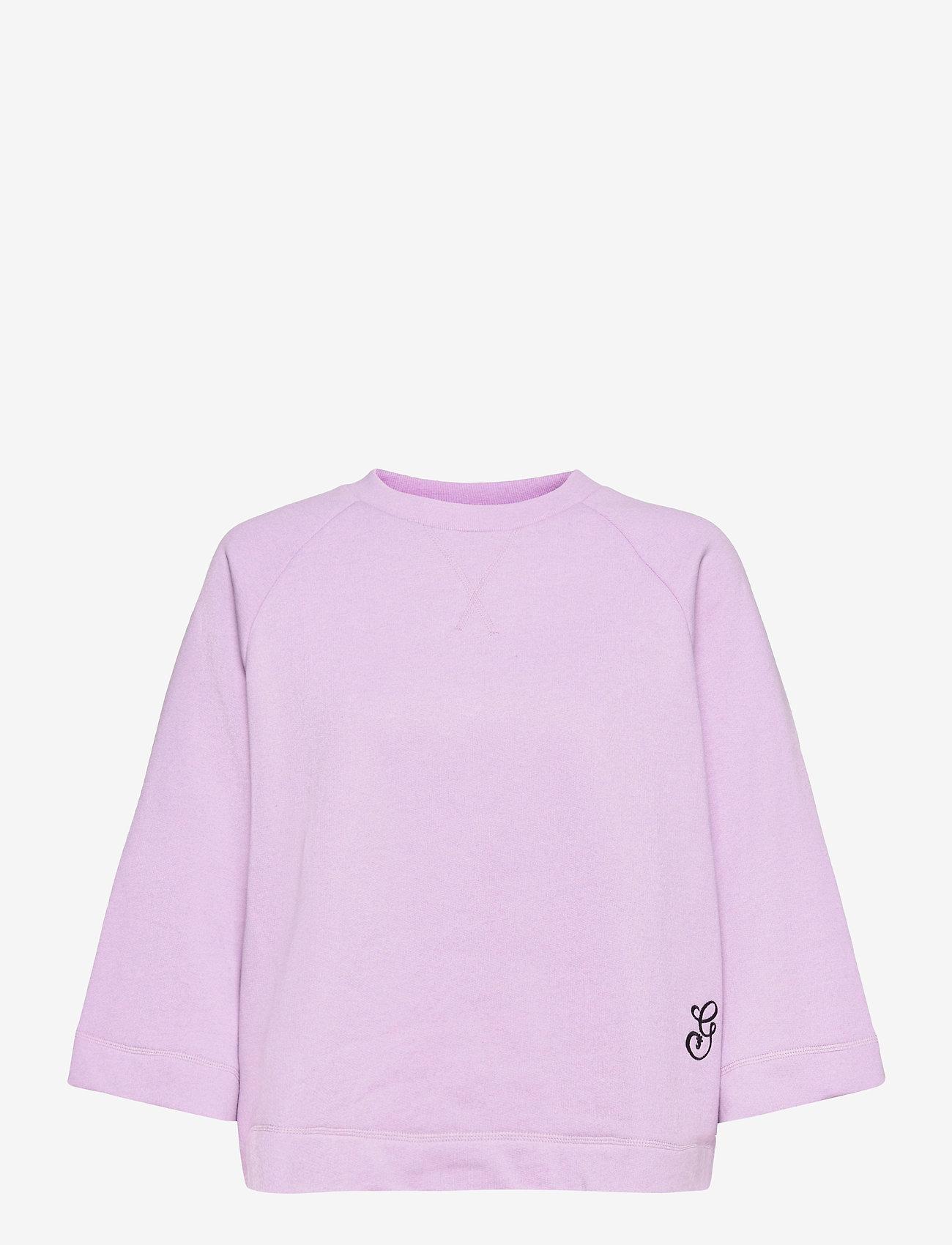 Ganni - Isoli - sweatshirts & hættetrøjer - orchid bloom - 0