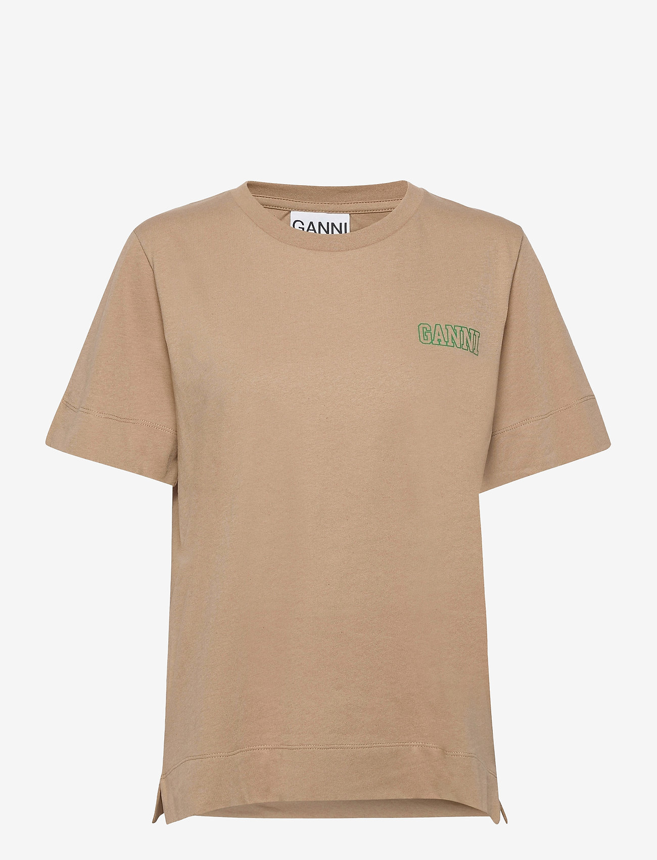 Ganni - Thin Software Jersey - t-shirts - hazel - 0