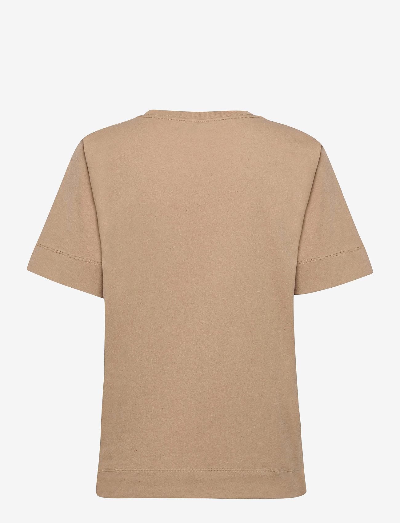 Ganni - Thin Software Jersey - t-shirts - hazel - 1