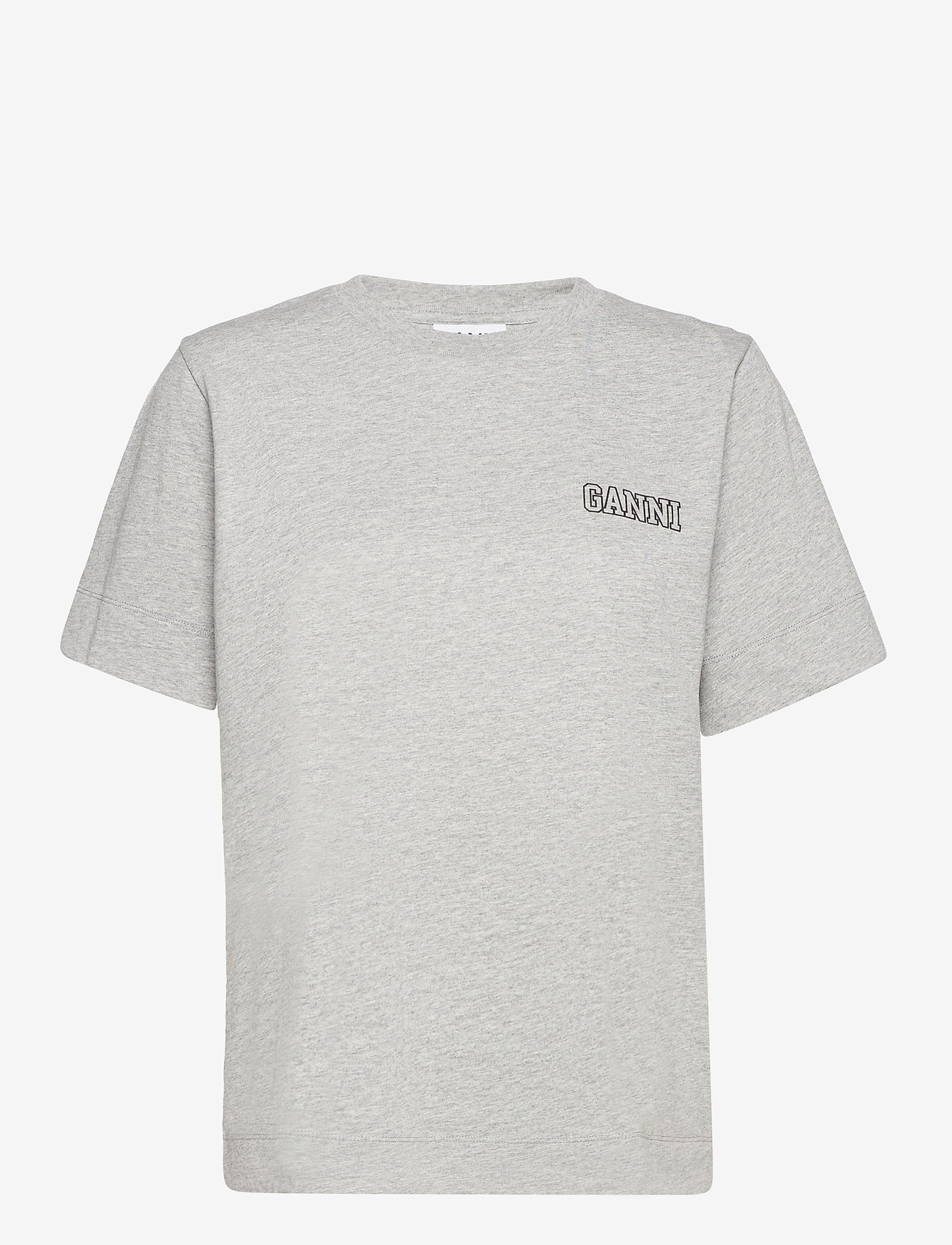 Ganni - Thin Software Jersey - t-shirts - paloma melange - 0