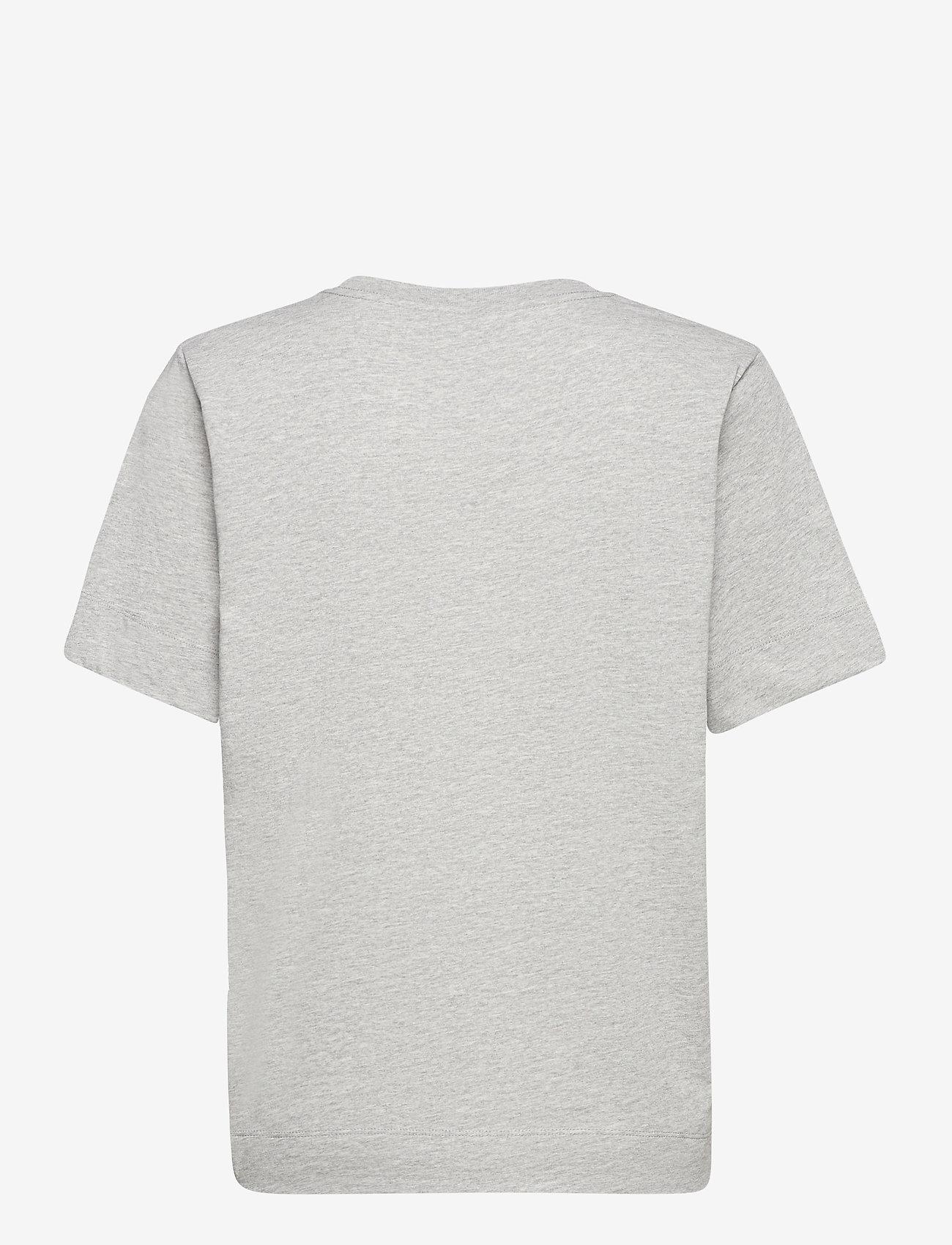 Ganni - Thin Software Jersey - t-shirts - paloma melange - 1