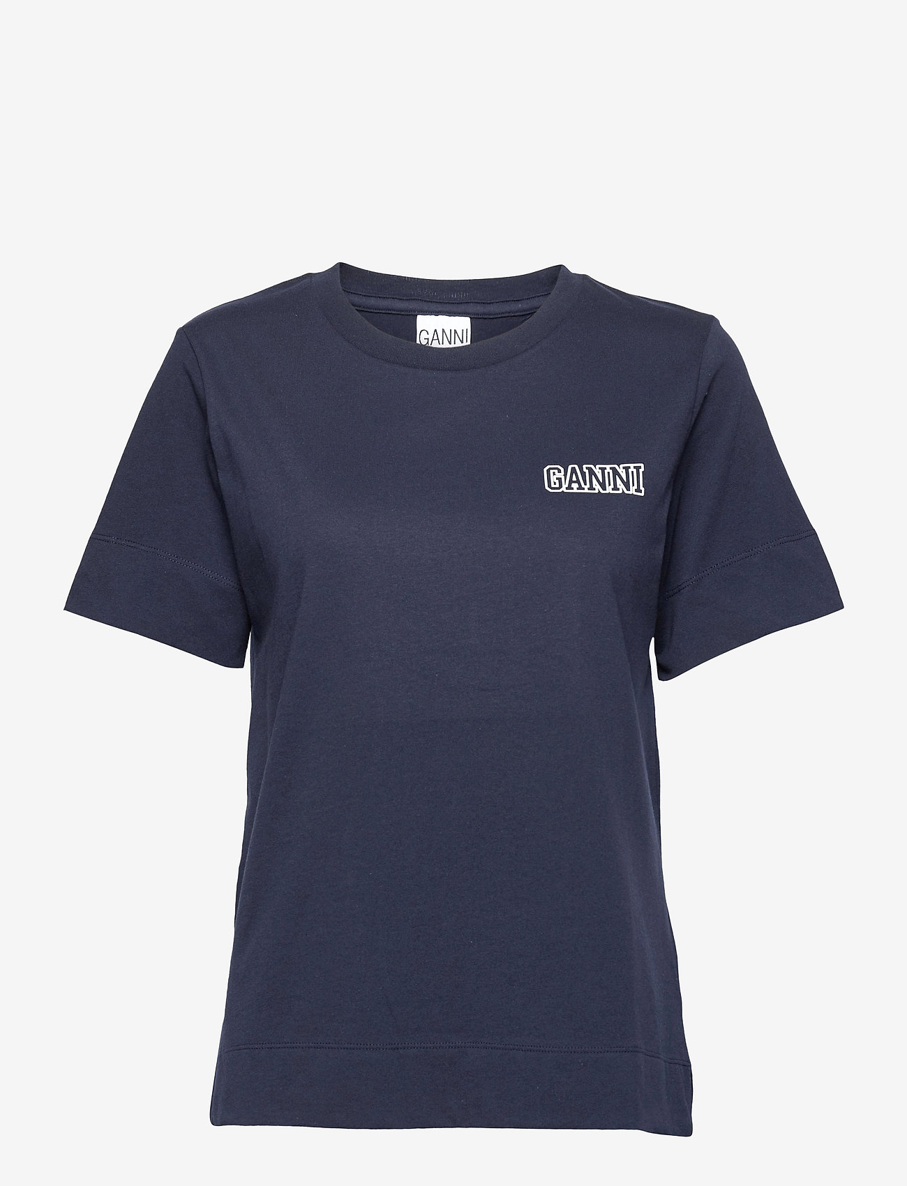 Ganni - Thin Software Jersey - t-shirts - sky captain - 0
