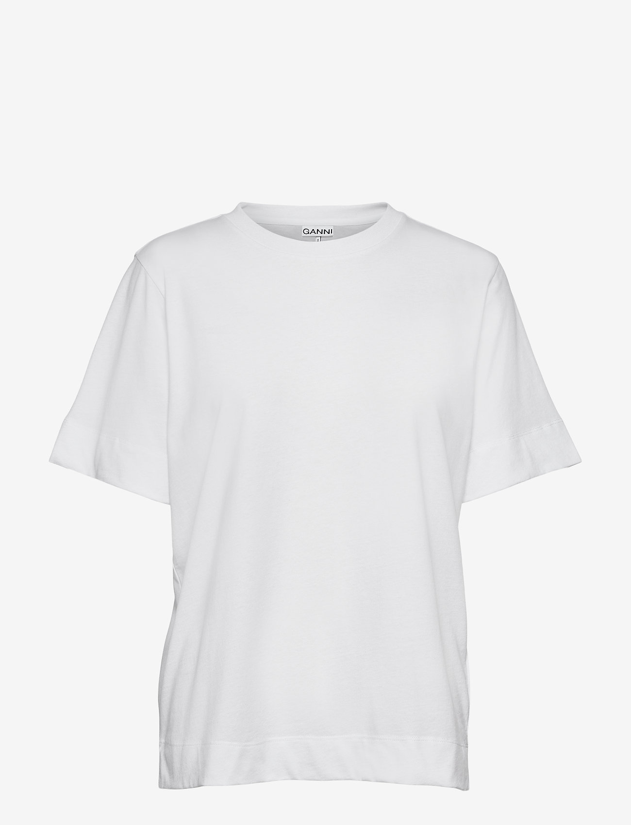 Ganni - Thin Software Jersey - t-shirts - white - 0