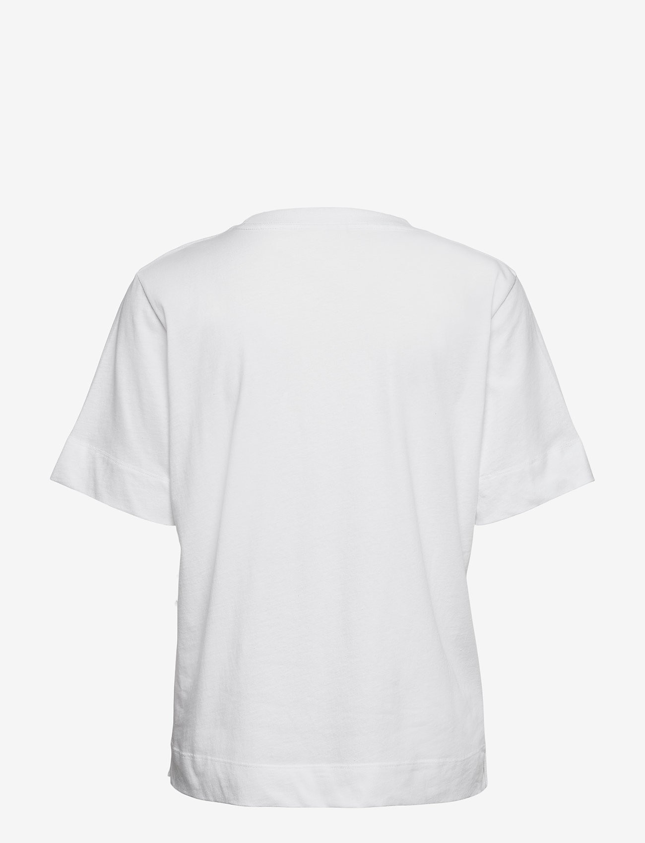 Ganni - Thin Software Jersey - t-shirts - white - 1