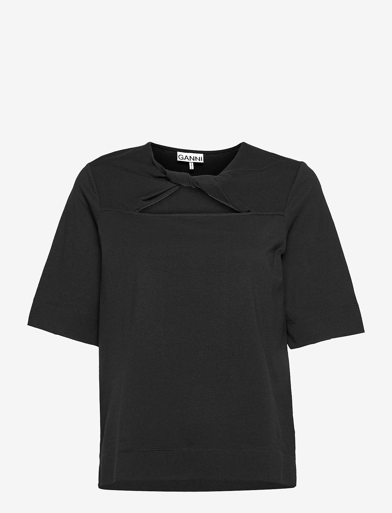 Ganni - Basic Cotton Jersey - t-shirt & tops - phantom - 0