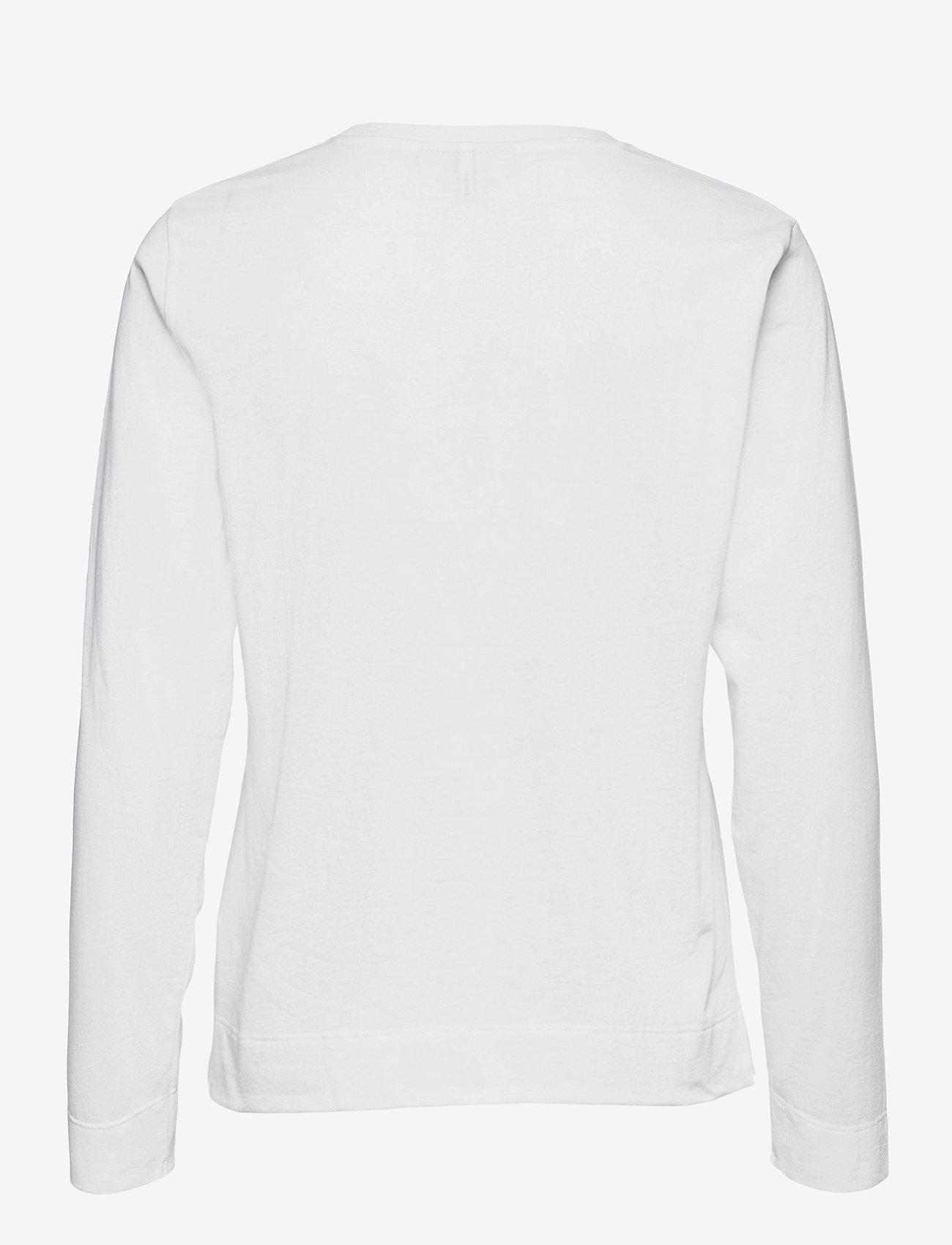 Ganni - Thin Software Jersey - langærmede toppe - white - 1