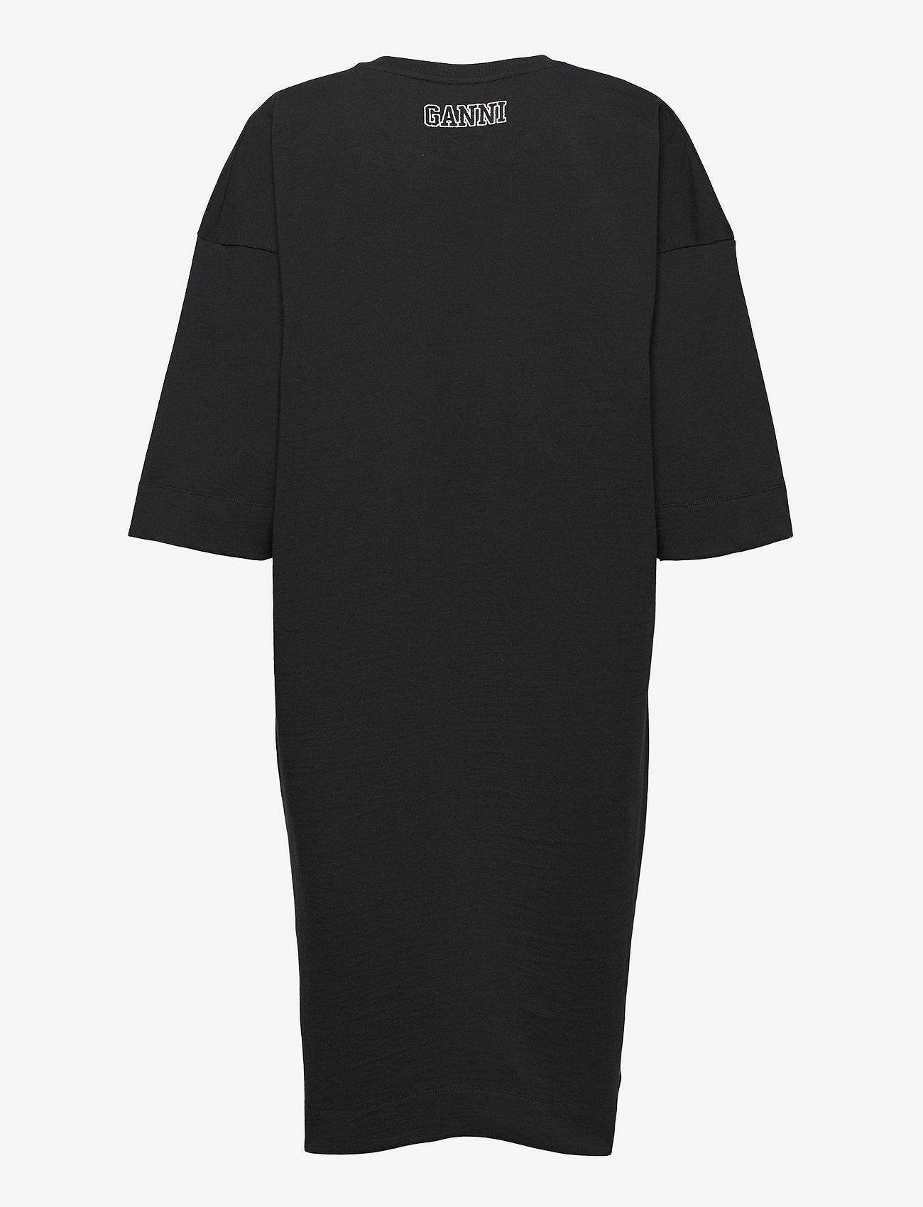 Ganni - Software Jersey - t-shirtkjoler - black - 1