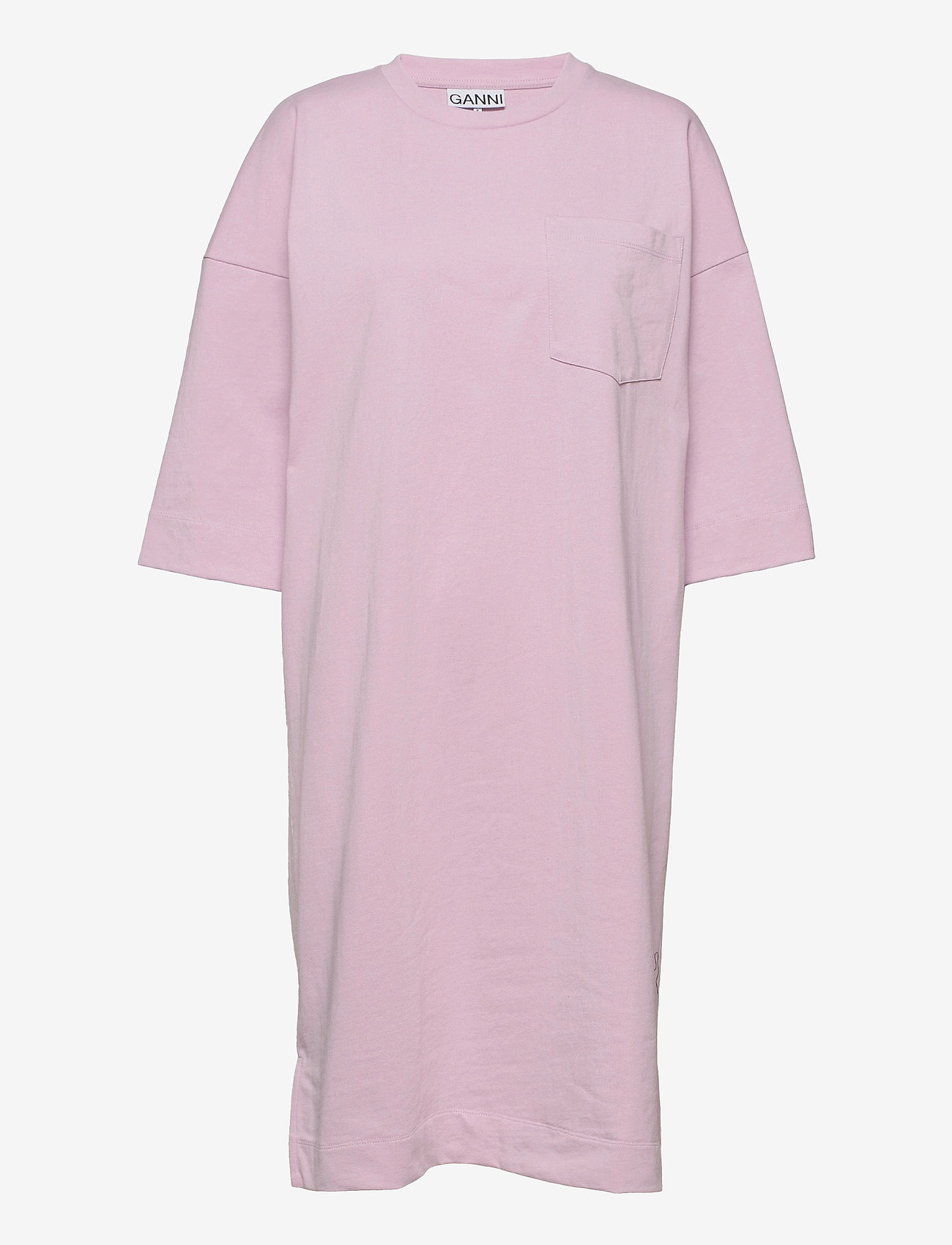Ganni - Software Jersey - t-shirtkjoler - sweet lilac - 0