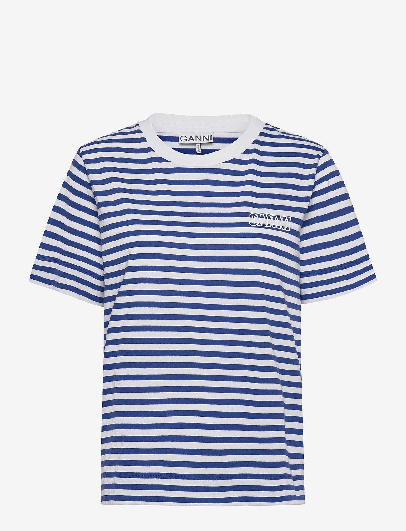 Ganni - Stripe Thin Software Jersey - t-shirts - daphne - 0