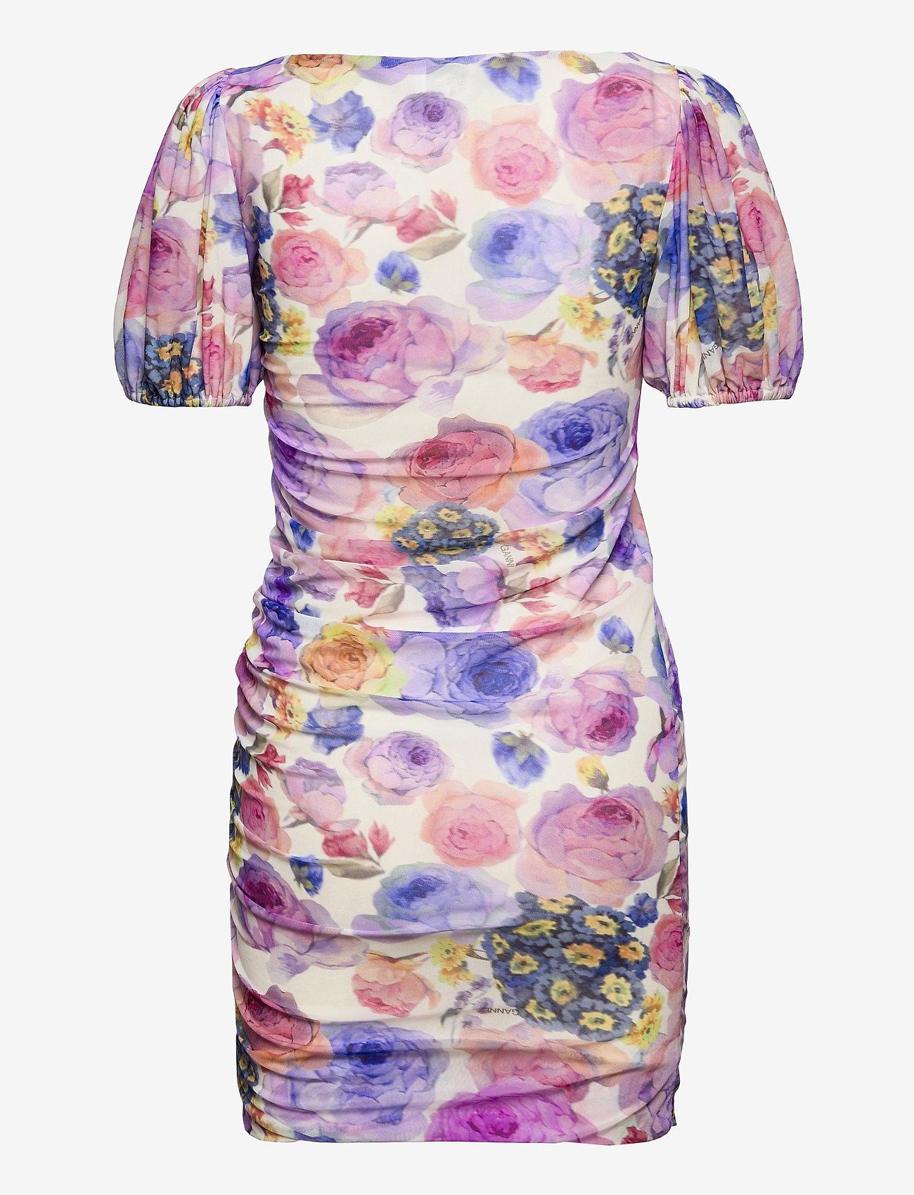 Ganni - Printed Mesh - summer dresses - multicolour - 1